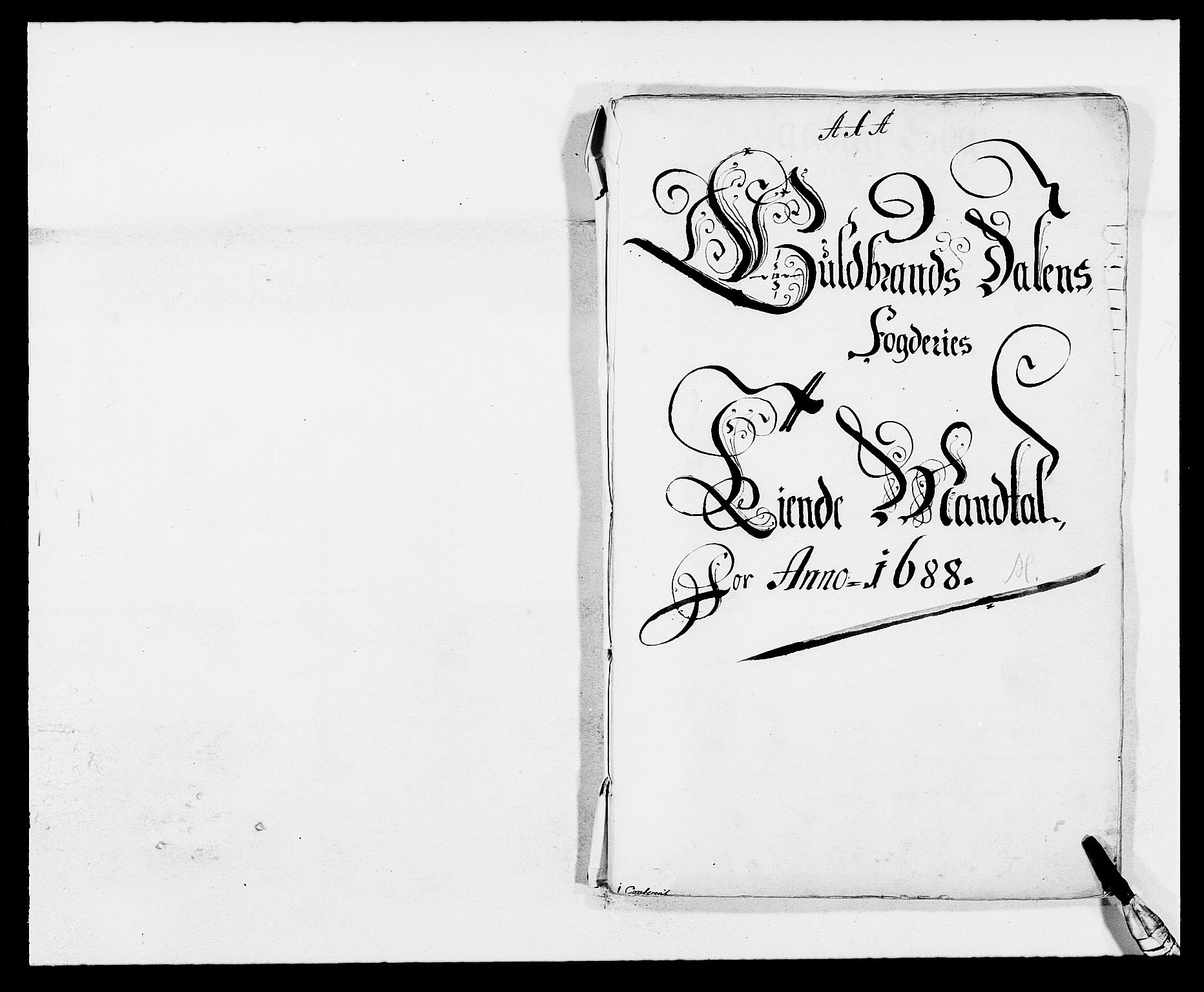 RA, Rentekammeret inntil 1814, Reviderte regnskaper, Fogderegnskap, R17/L1163: Fogderegnskap Gudbrandsdal, 1682-1689, s. 22