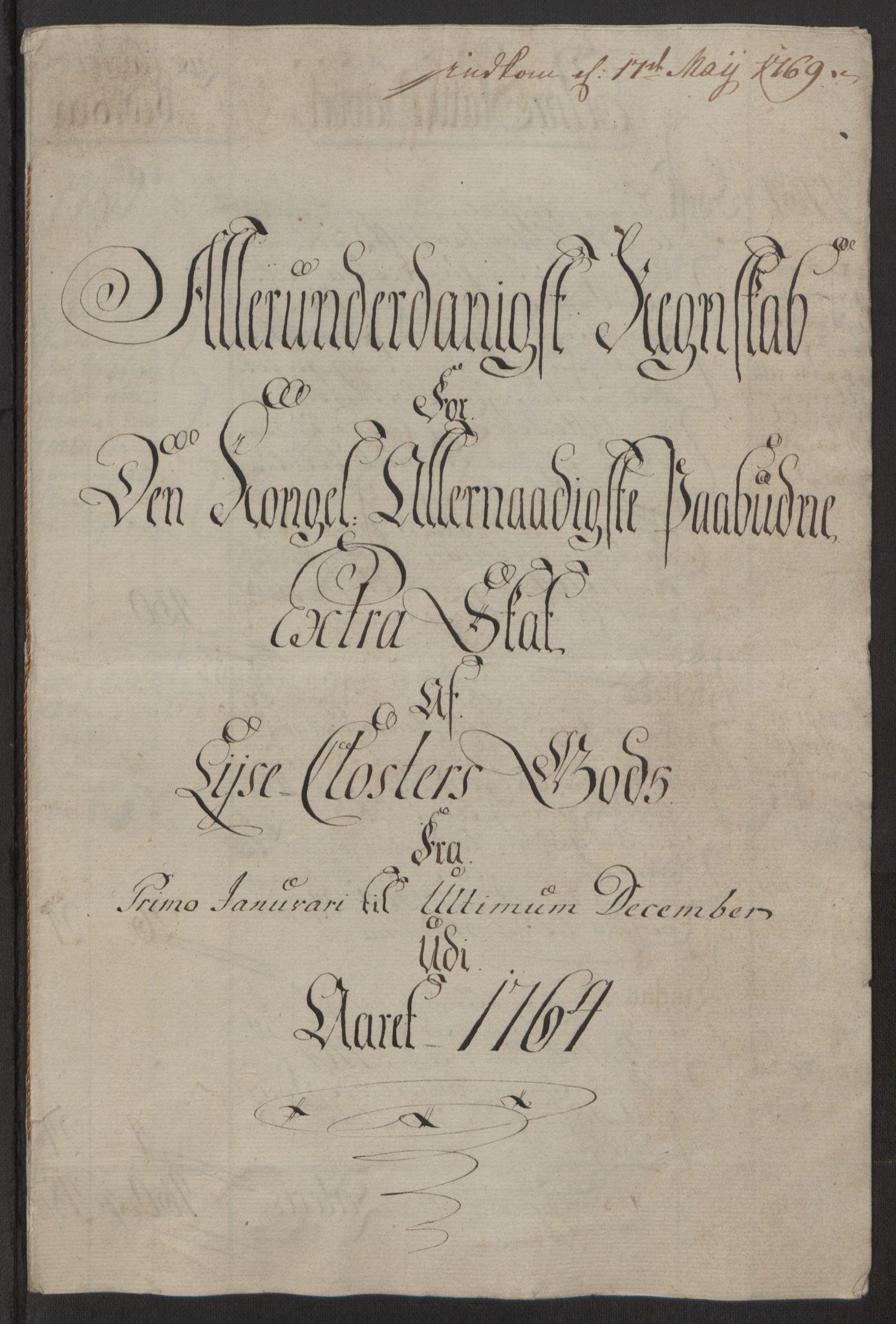 RA, Rentekammeret inntil 1814, Reviderte regnskaper, Fogderegnskap, R50/L3180: Ekstraskatten Lyse kloster, 1762-1783, s. 81