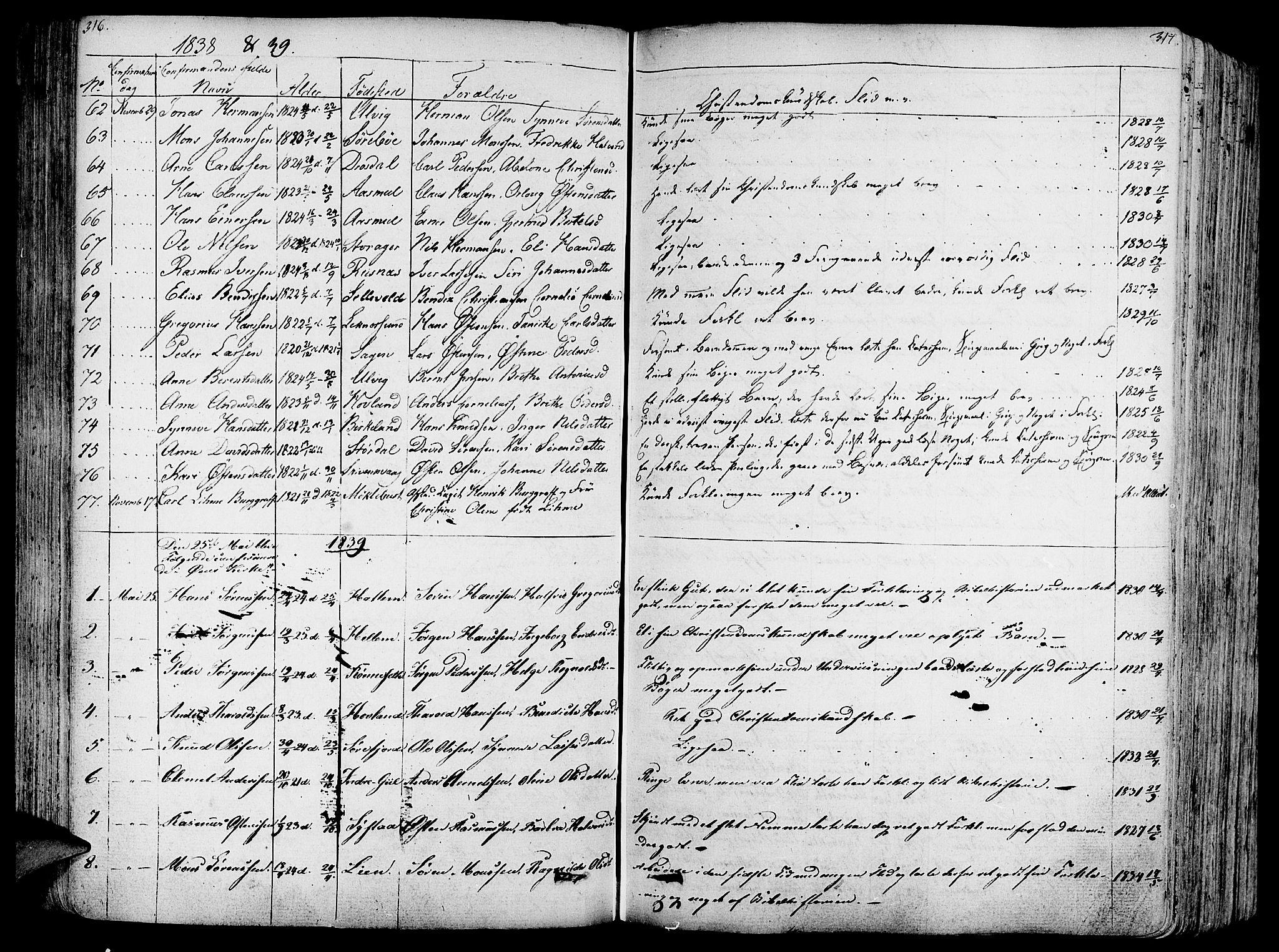 SAB, Askvoll Sokneprestembete, Ministerialbok nr. A 10, 1821-1844, s. 316-317