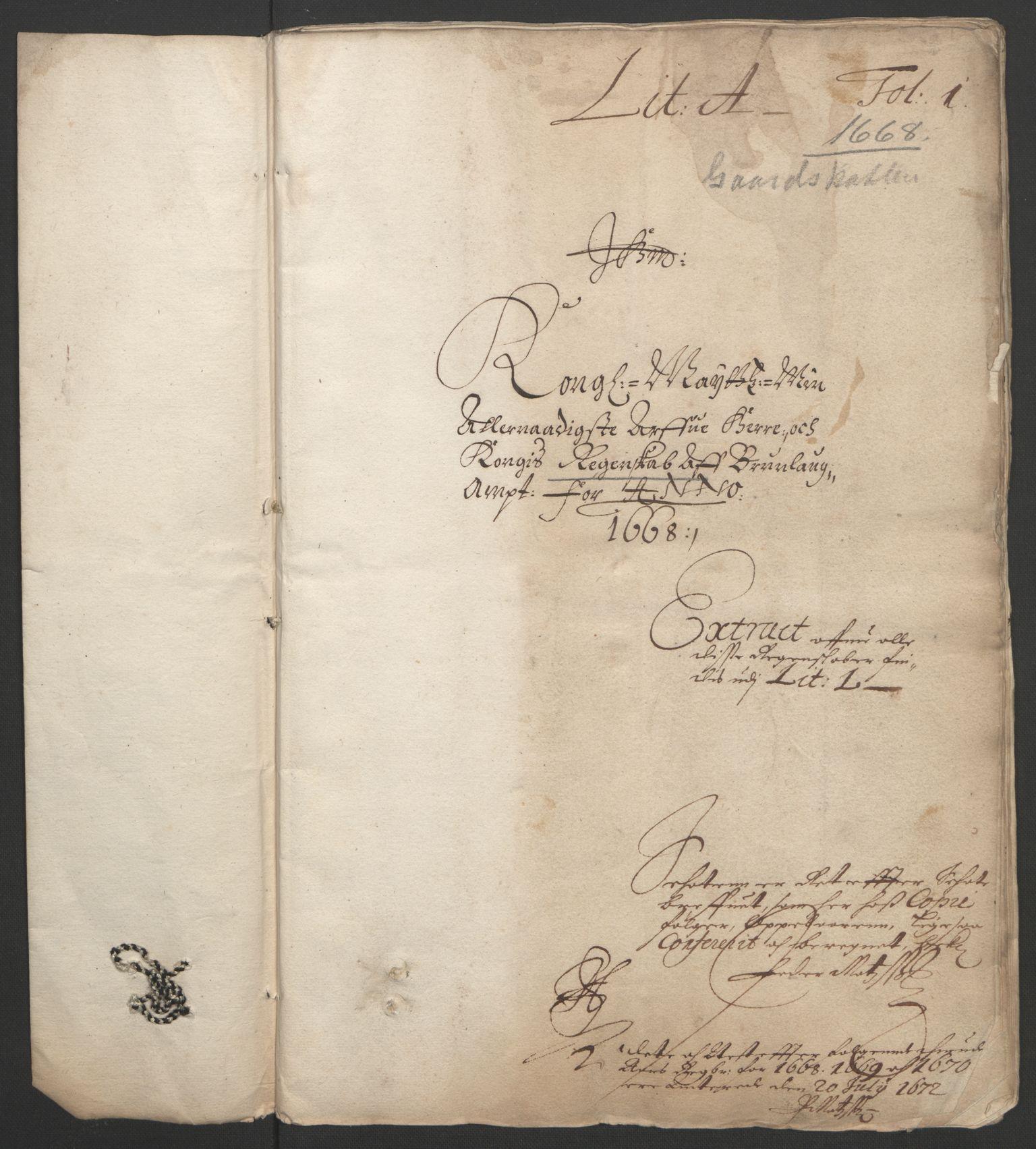 RA, Rentekammeret inntil 1814, Reviderte regnskaper, Fogderegnskap, R33/L1964: Fogderegnskap Larvik grevskap, 1665-1668, s. 107