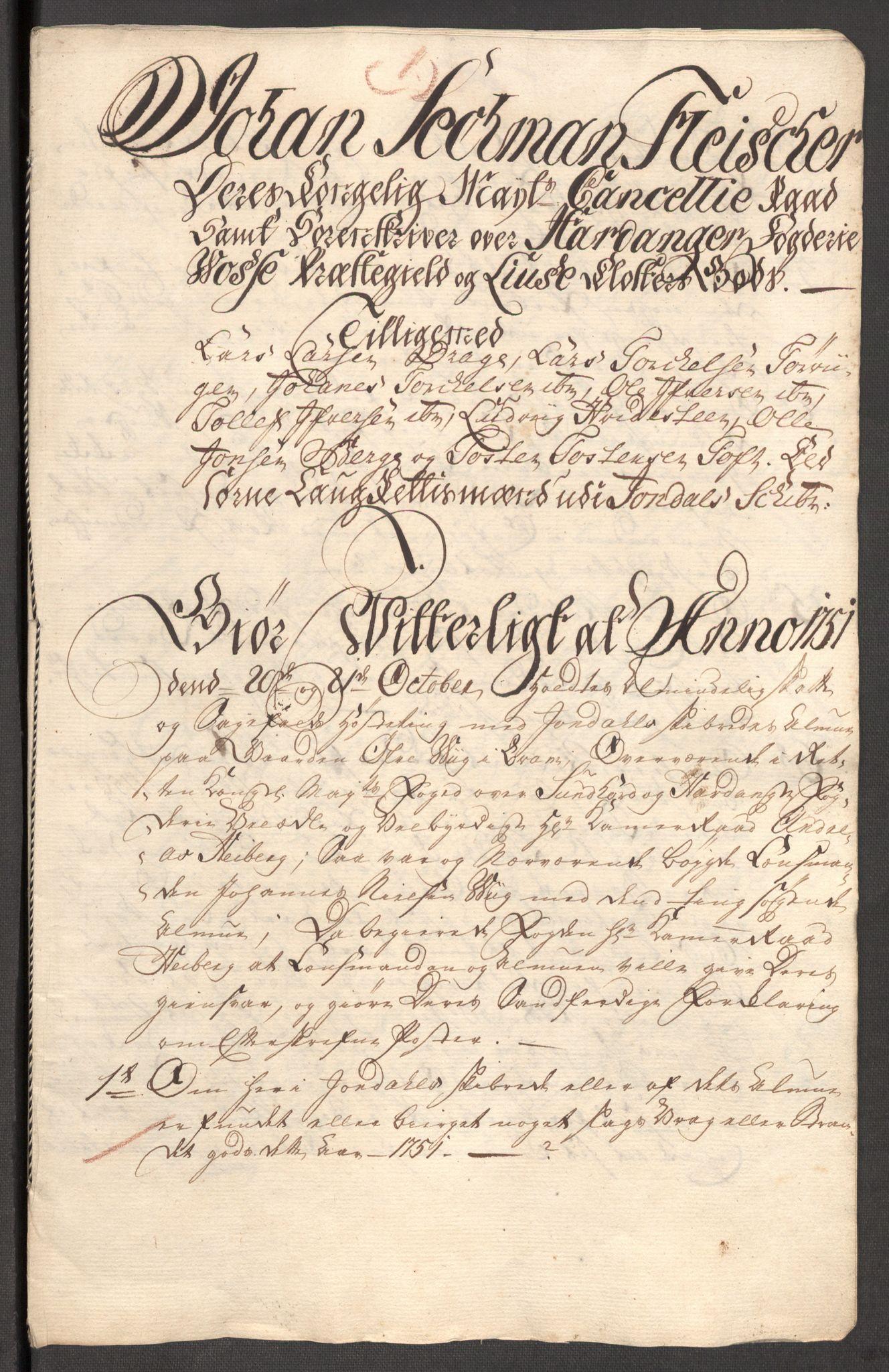 RA, Rentekammeret inntil 1814, Reviderte regnskaper, Fogderegnskap, R48/L3056: Fogderegnskap Sunnhordland og Hardanger, 1751, s. 253