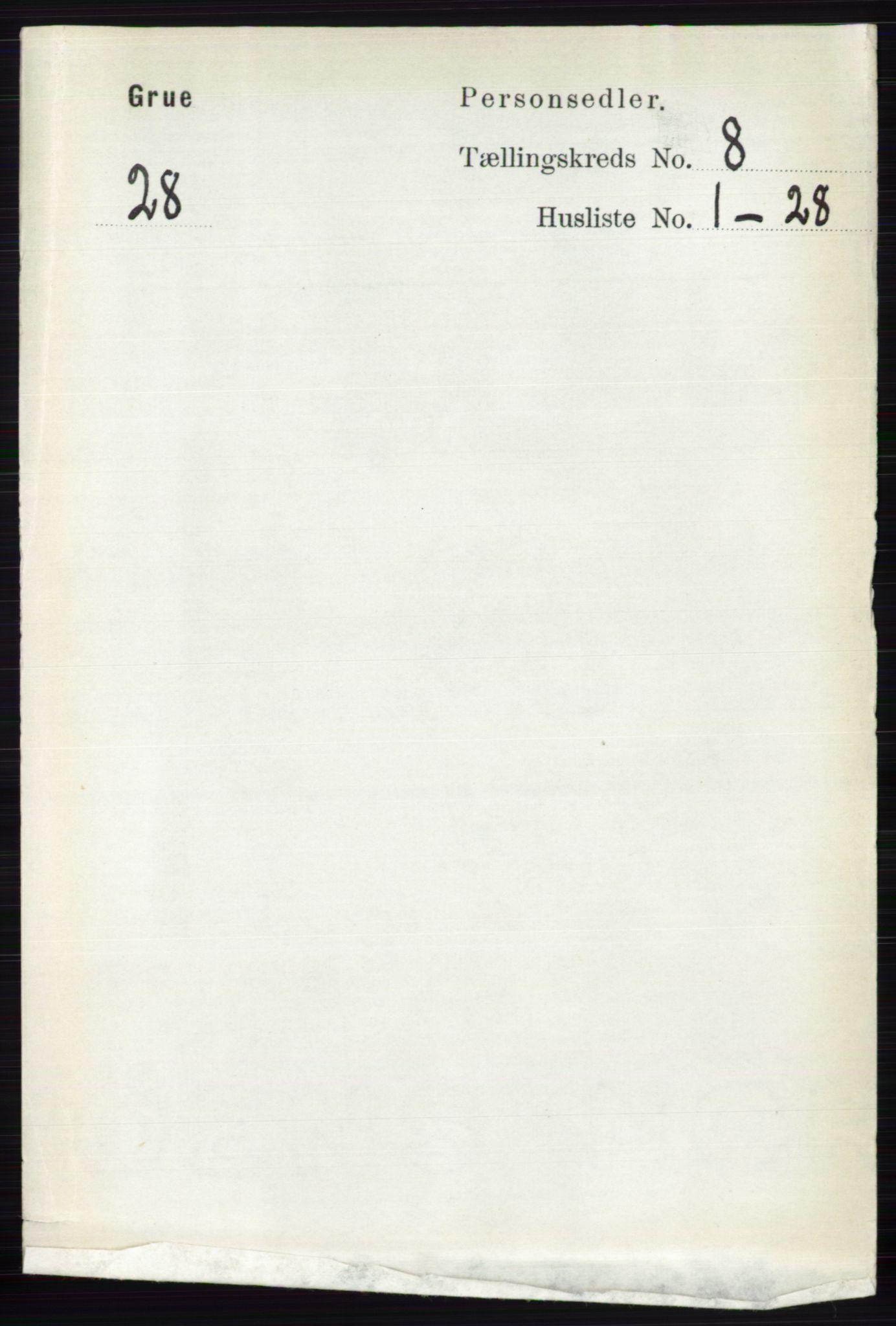 RA, Folketelling 1891 for 0423 Grue herred, 1891, s. 4313