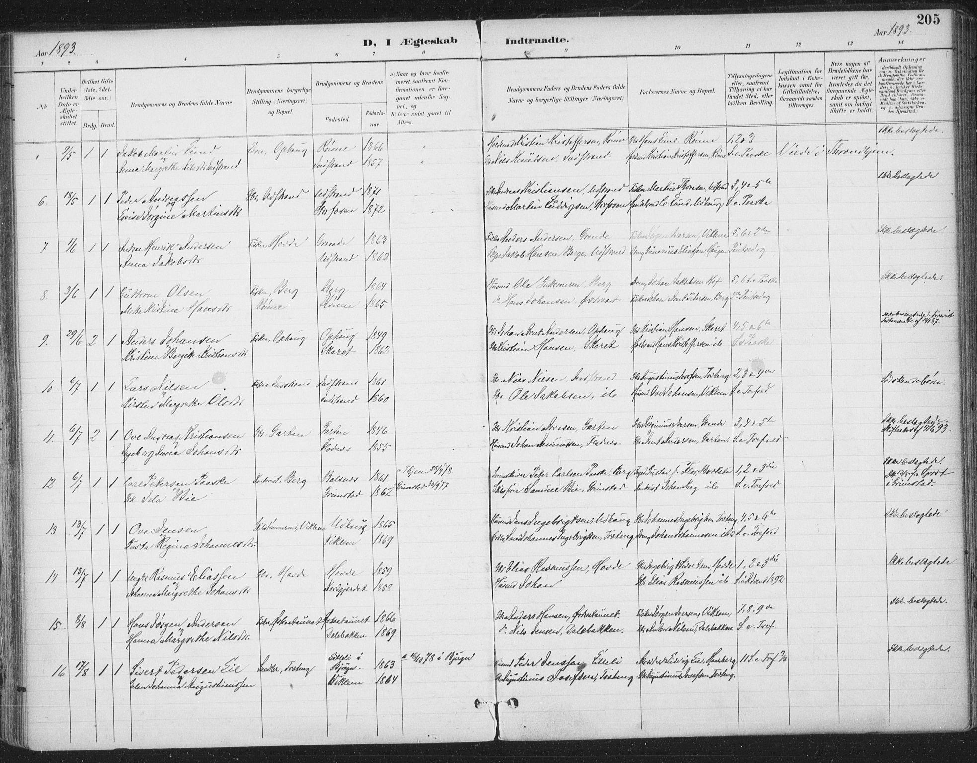 SAT, Ministerialprotokoller, klokkerbøker og fødselsregistre - Sør-Trøndelag, 659/L0743: Ministerialbok nr. 659A13, 1893-1910, s. 205