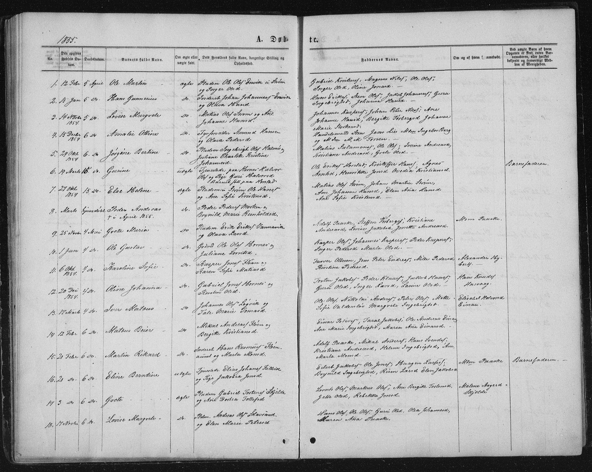 SAT, Ministerialprotokoller, klokkerbøker og fødselsregistre - Nord-Trøndelag, 771/L0595: Ministerialbok nr. 771A02, 1840-1869