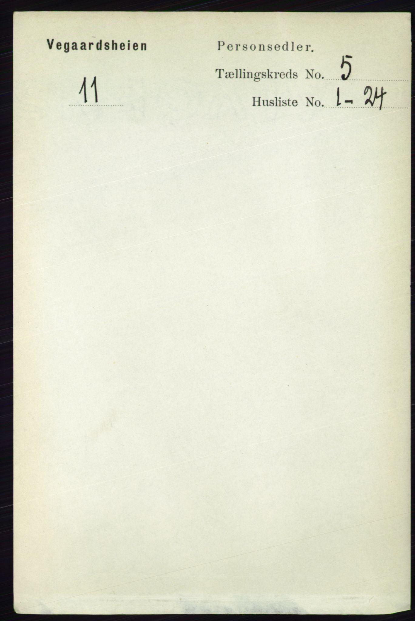RA, Folketelling 1891 for 0912 Vegårshei herred, 1891, s. 968