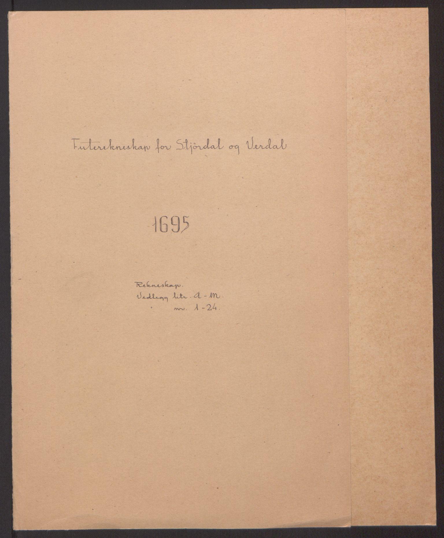 RA, Rentekammeret inntil 1814, Reviderte regnskaper, Fogderegnskap, R62/L4187: Fogderegnskap Stjørdal og Verdal, 1695, s. 2
