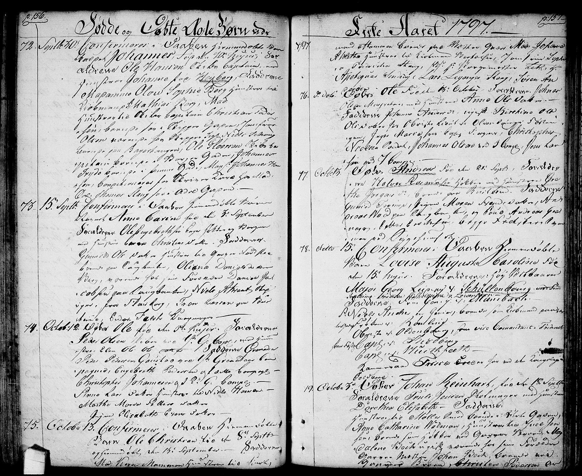 SAO, Halden prestekontor Kirkebøker, F/Fa/L0002: Ministerialbok nr. I 2, 1792-1812, s. 156-157