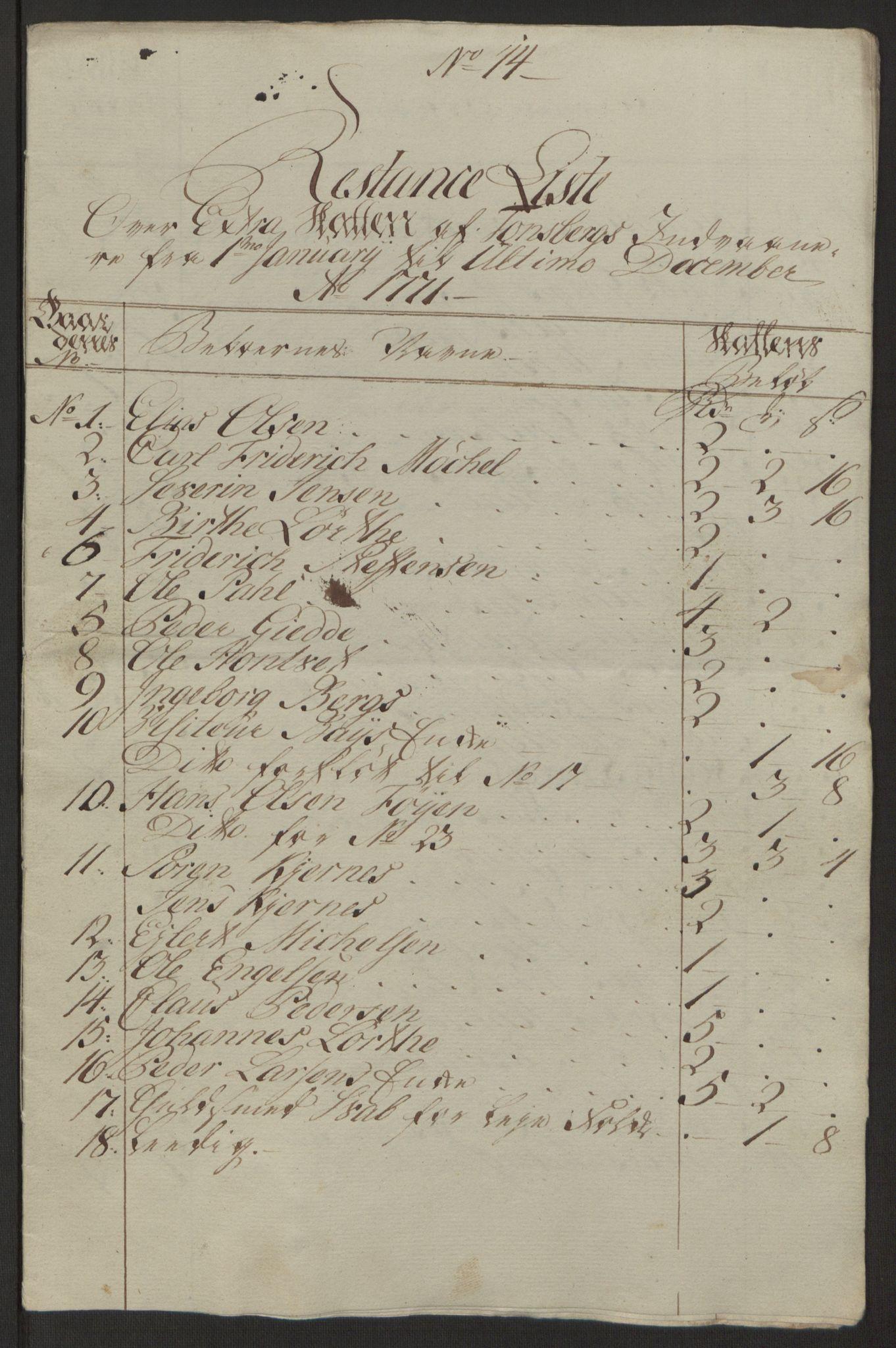 RA, Rentekammeret inntil 1814, Reviderte regnskaper, Byregnskaper, R/Rh/L0162: [H4] Kontribusjonsregnskap, 1762-1772, s. 393