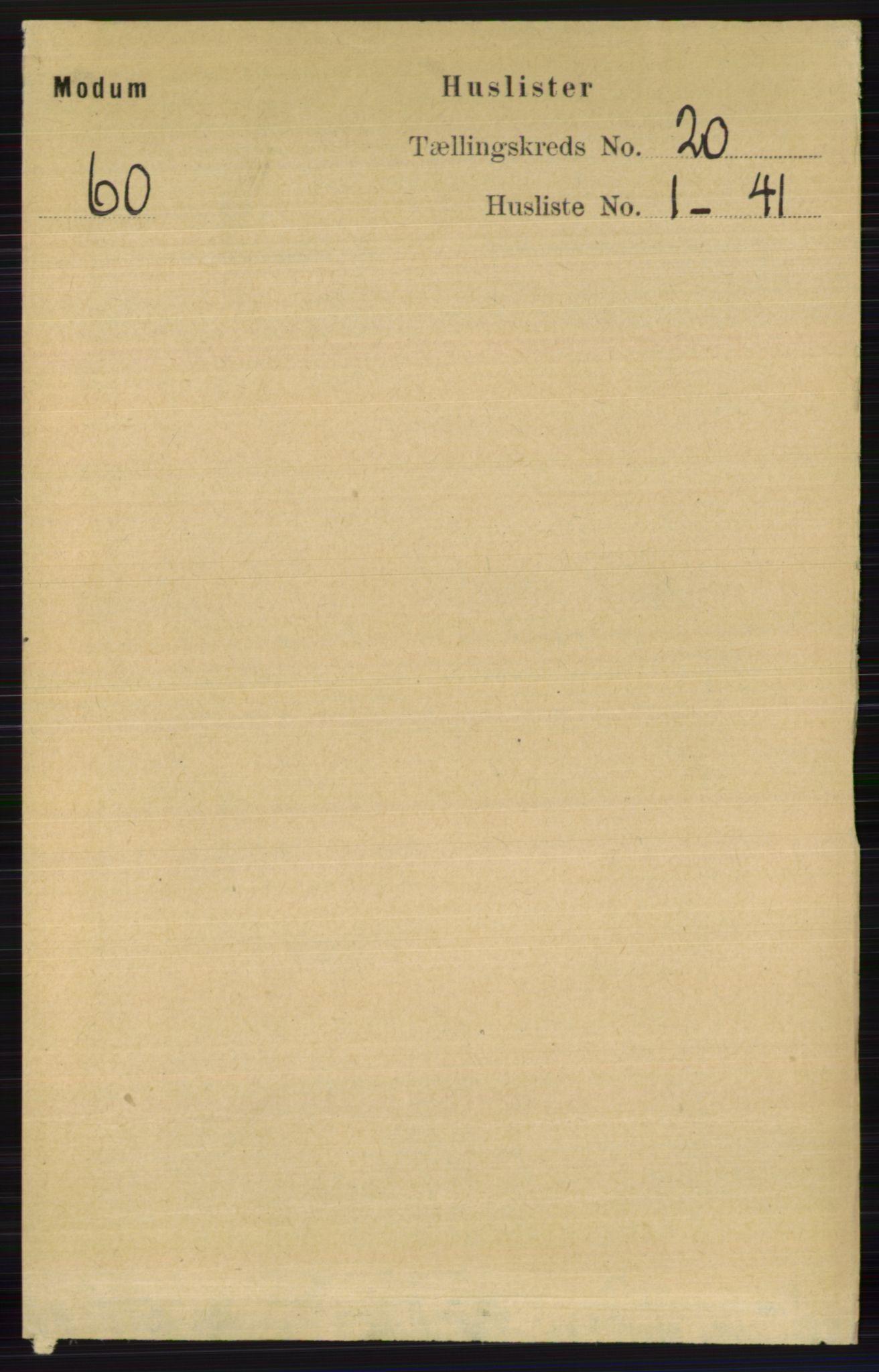 RA, Folketelling 1891 for 0623 Modum herred, 1891, s. 7760