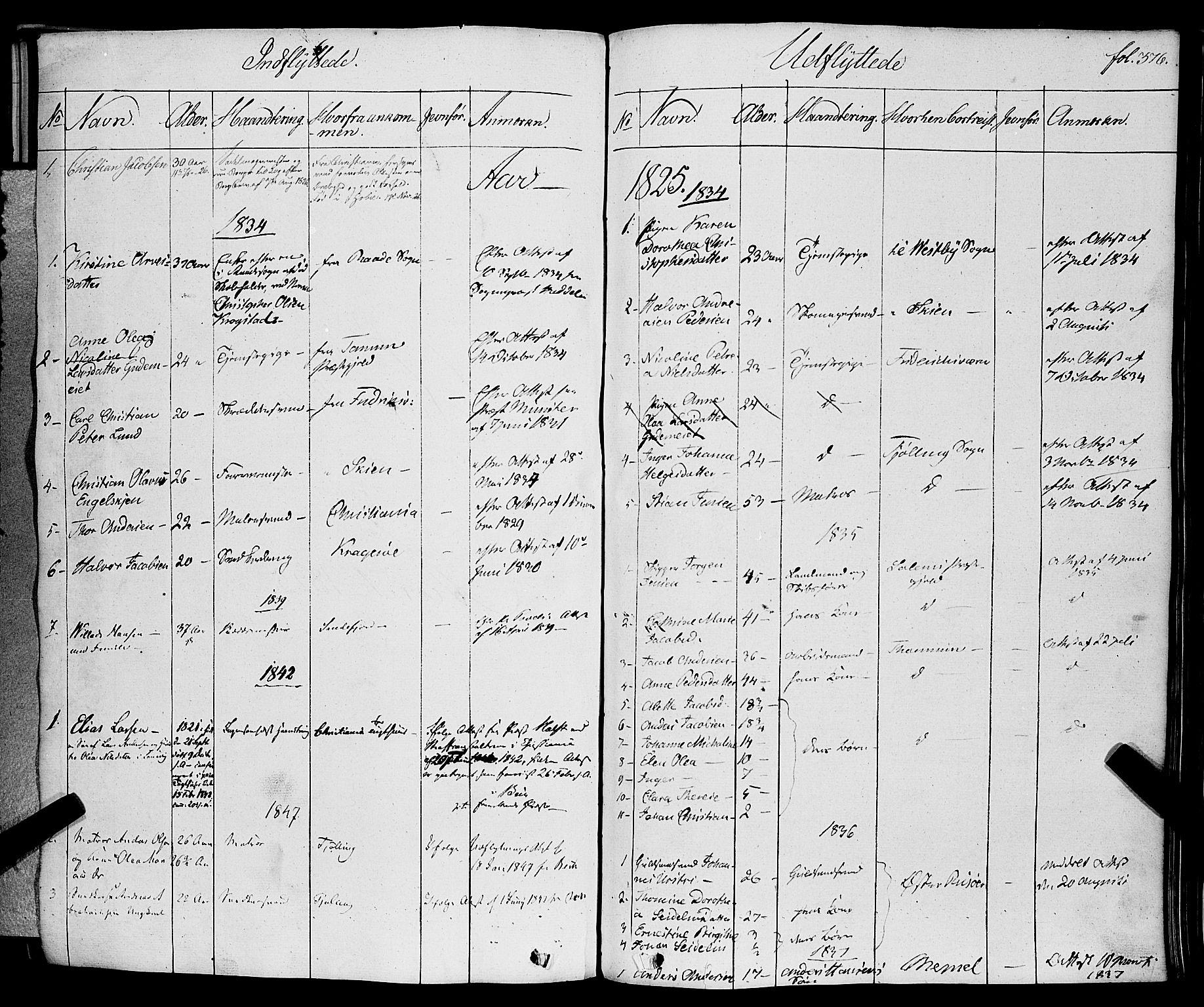 SAKO, Larvik kirkebøker, F/Fa/L0002: Ministerialbok nr. I 2, 1825-1847, s. 376