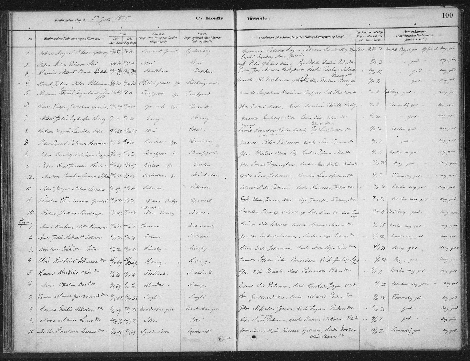 SAT, Ministerialprotokoller, klokkerbøker og fødselsregistre - Nord-Trøndelag, 788/L0697: Ministerialbok nr. 788A04, 1878-1902, s. 100
