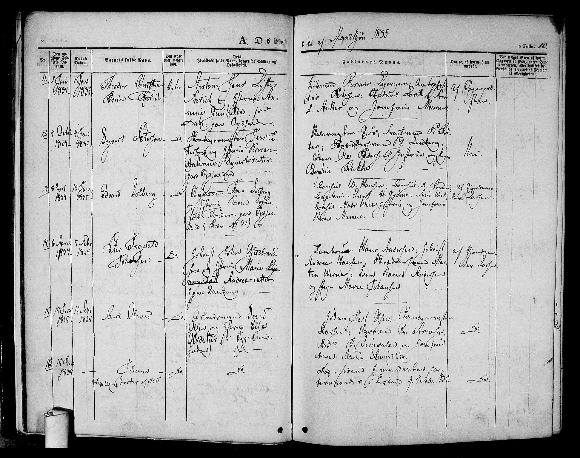 SAO, Halden prestekontor Kirkebøker, F/Fa/L0005: Ministerialbok nr. I 5, 1834-1845, s. 10