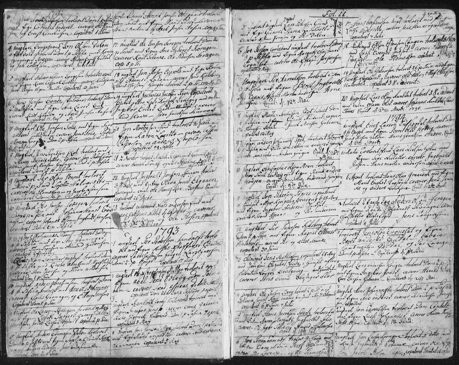 SAT, Ministerialprotokoller, klokkerbøker og fødselsregistre - Sør-Trøndelag, 681/L0926: Ministerialbok nr. 681A04, 1767-1797, s. 11