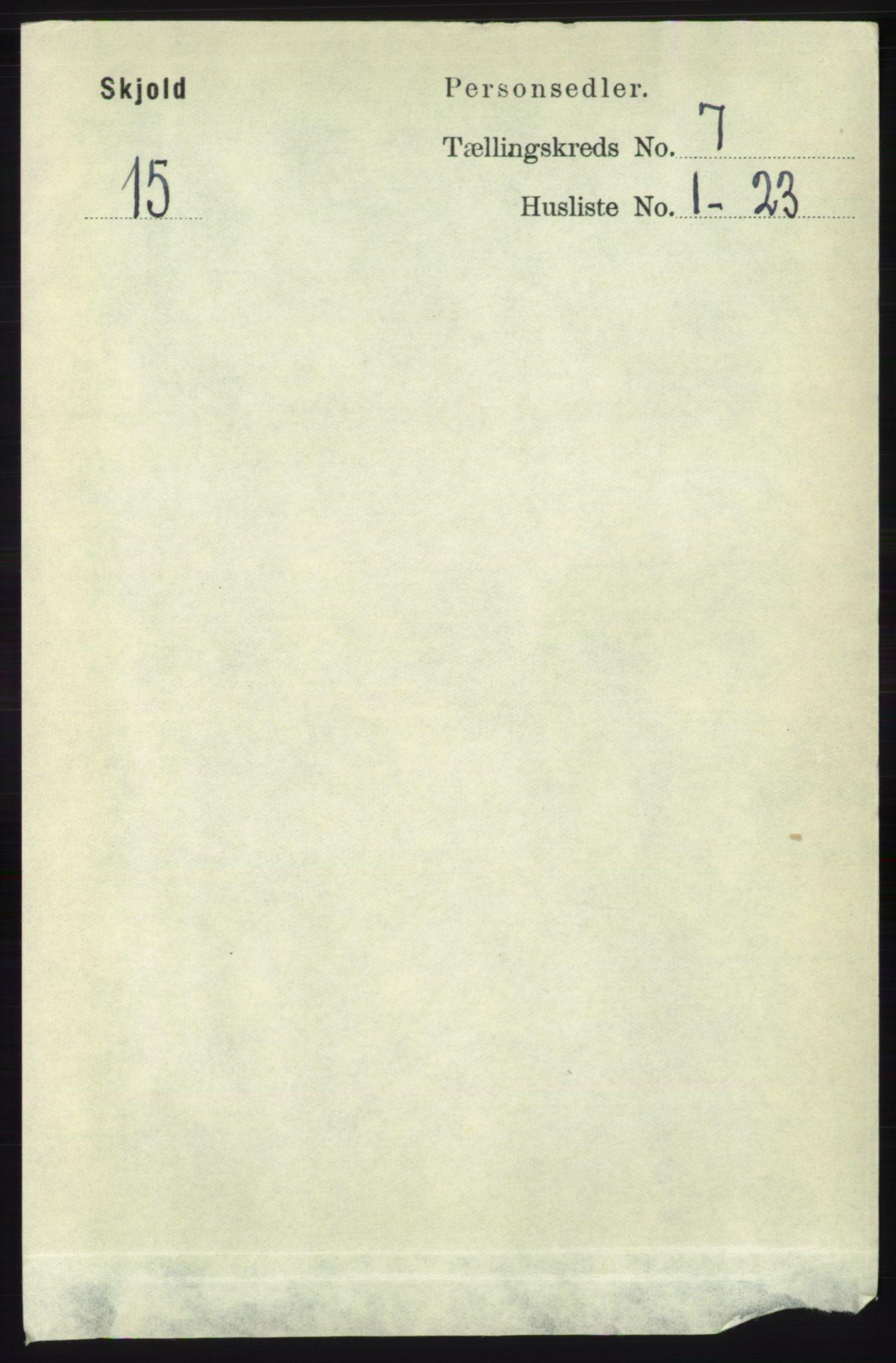 RA, Folketelling 1891 for 1154 Skjold herred, 1891, s. 1348