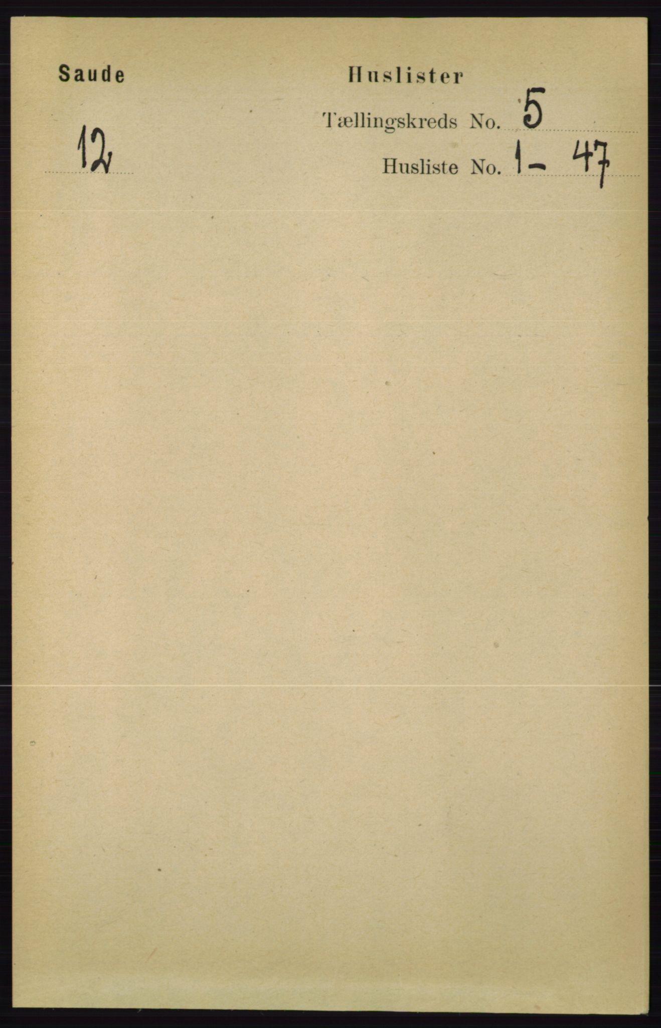 RA, Folketelling 1891 for 0822 Sauherad herred, 1891, s. 1375