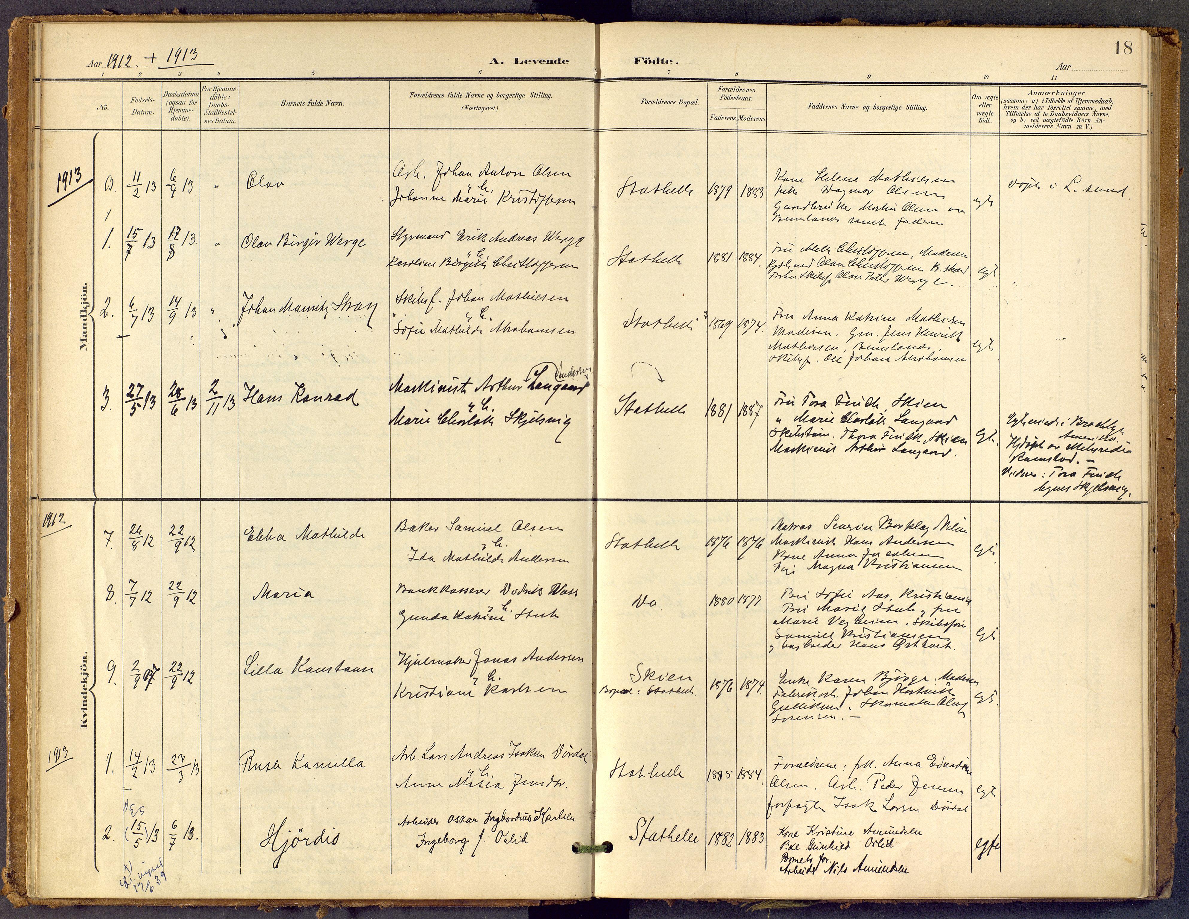 SAKO, Bamble kirkebøker, F/Fb/L0002: Ministerialbok nr. II 2, 1900-1921, s. 18