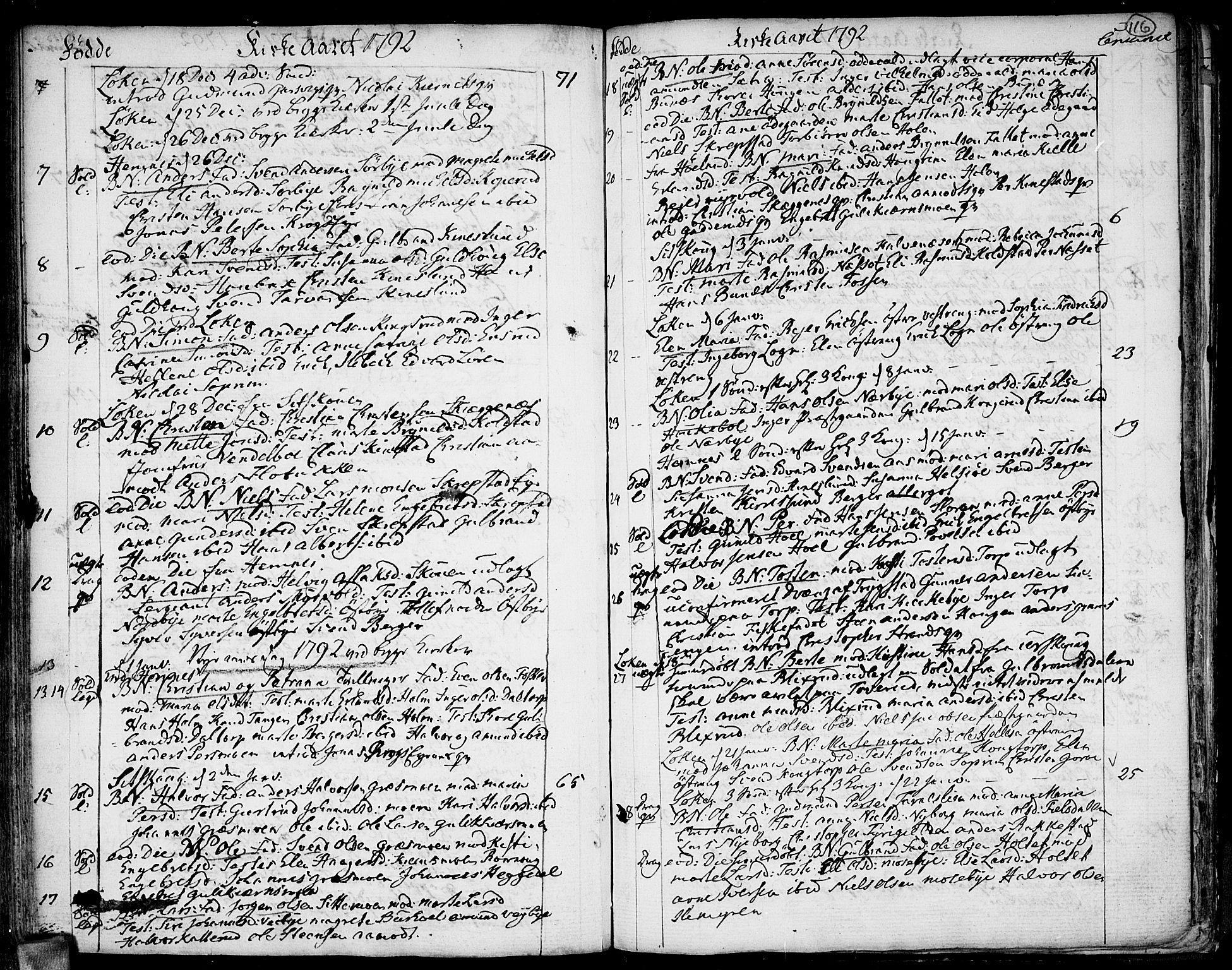 SAO, Høland prestekontor Kirkebøker, F/Fa/L0005: Ministerialbok nr. I 5, 1780-1793, s. 116