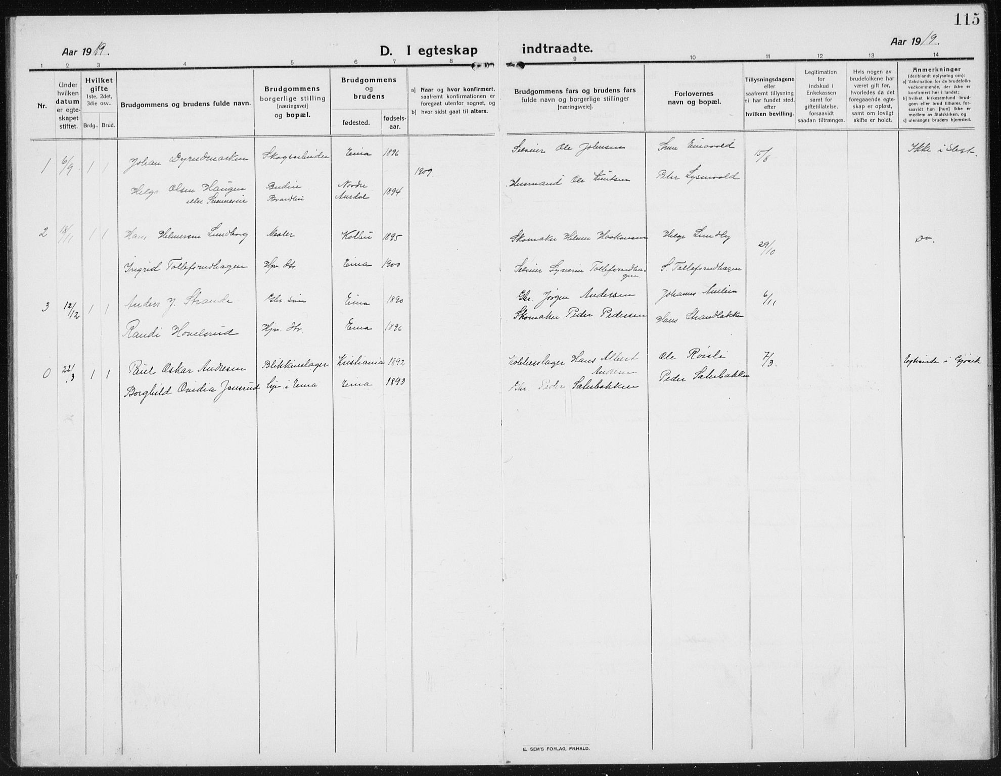 SAH, Kolbu prestekontor, Klokkerbok nr. 6, 1916-1934, s. 115