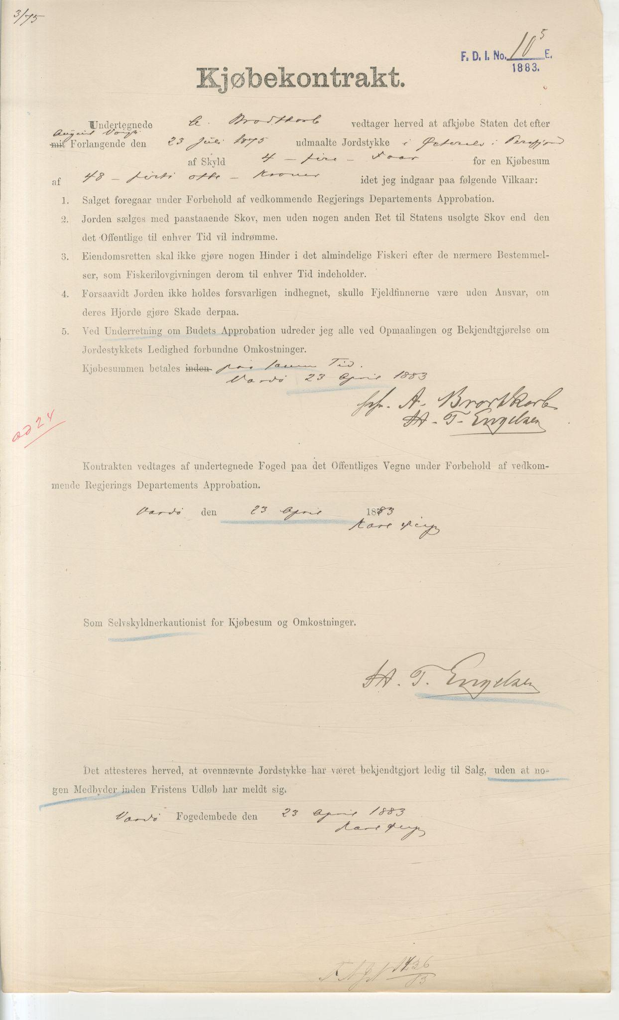 VAMU, Brodtkorb handel A/S, Q/Qb/L0003: Faste eiendommer i Vardø Herred, 1862-1939, s. 61