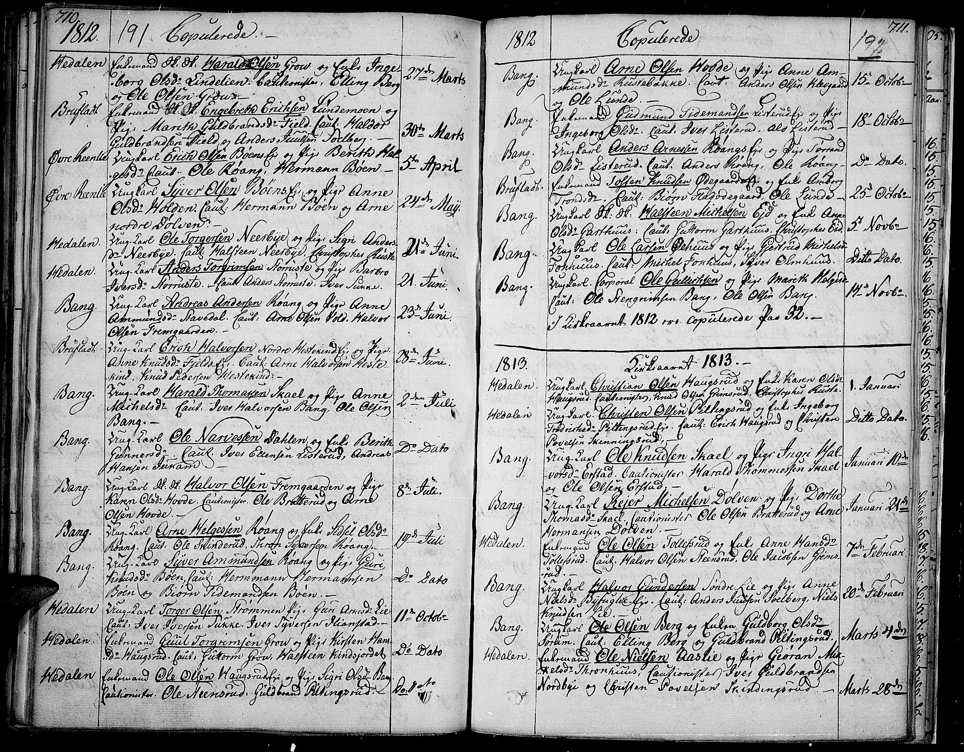 SAH, Sør-Aurdal prestekontor, Ministerialbok nr. 1, 1807-1815, s. 191-192