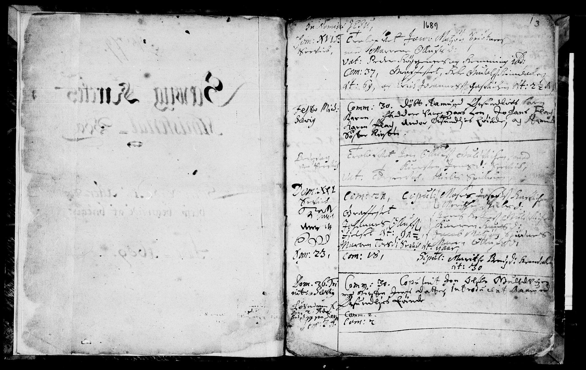 SAT, Ministerialprotokoller, klokkerbøker og fødselsregistre - Nord-Trøndelag, 770/L0587: Ministerialbok nr. 770A01, 1689-1697, s. 2-3