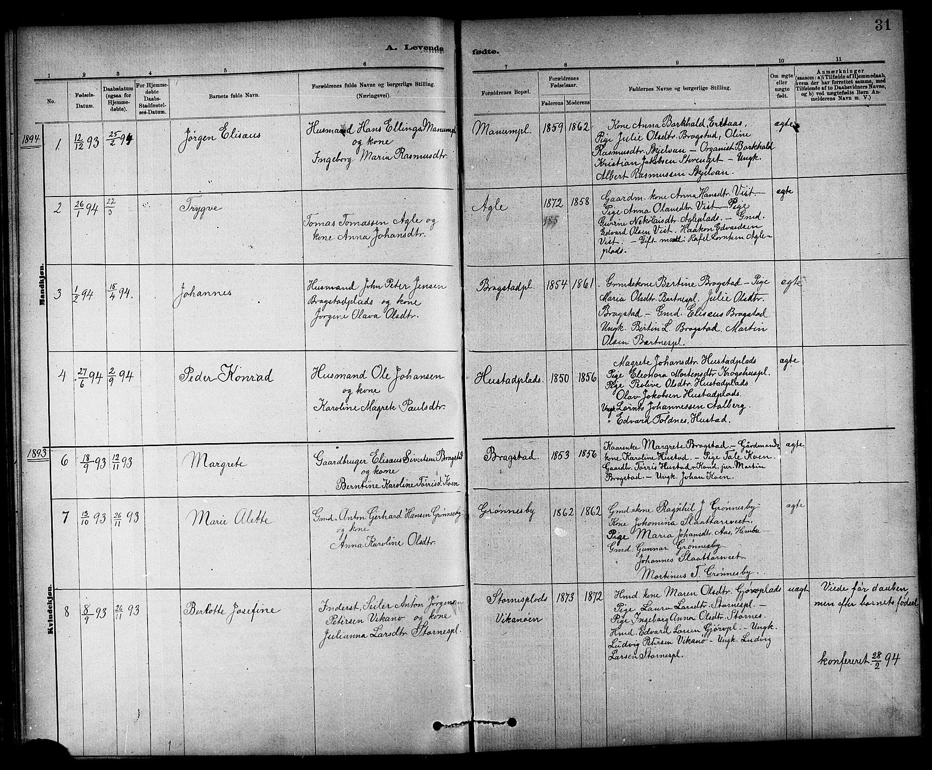 SAT, Ministerialprotokoller, klokkerbøker og fødselsregistre - Nord-Trøndelag, 732/L0318: Klokkerbok nr. 732C02, 1881-1911, s. 31