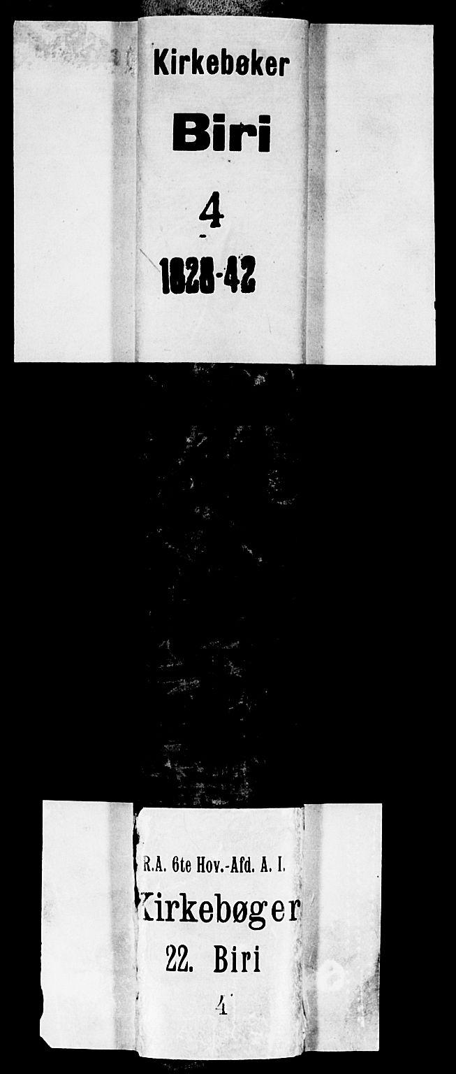 SAH, Biri prestekontor, Klokkerbok nr. 2, 1828-1842