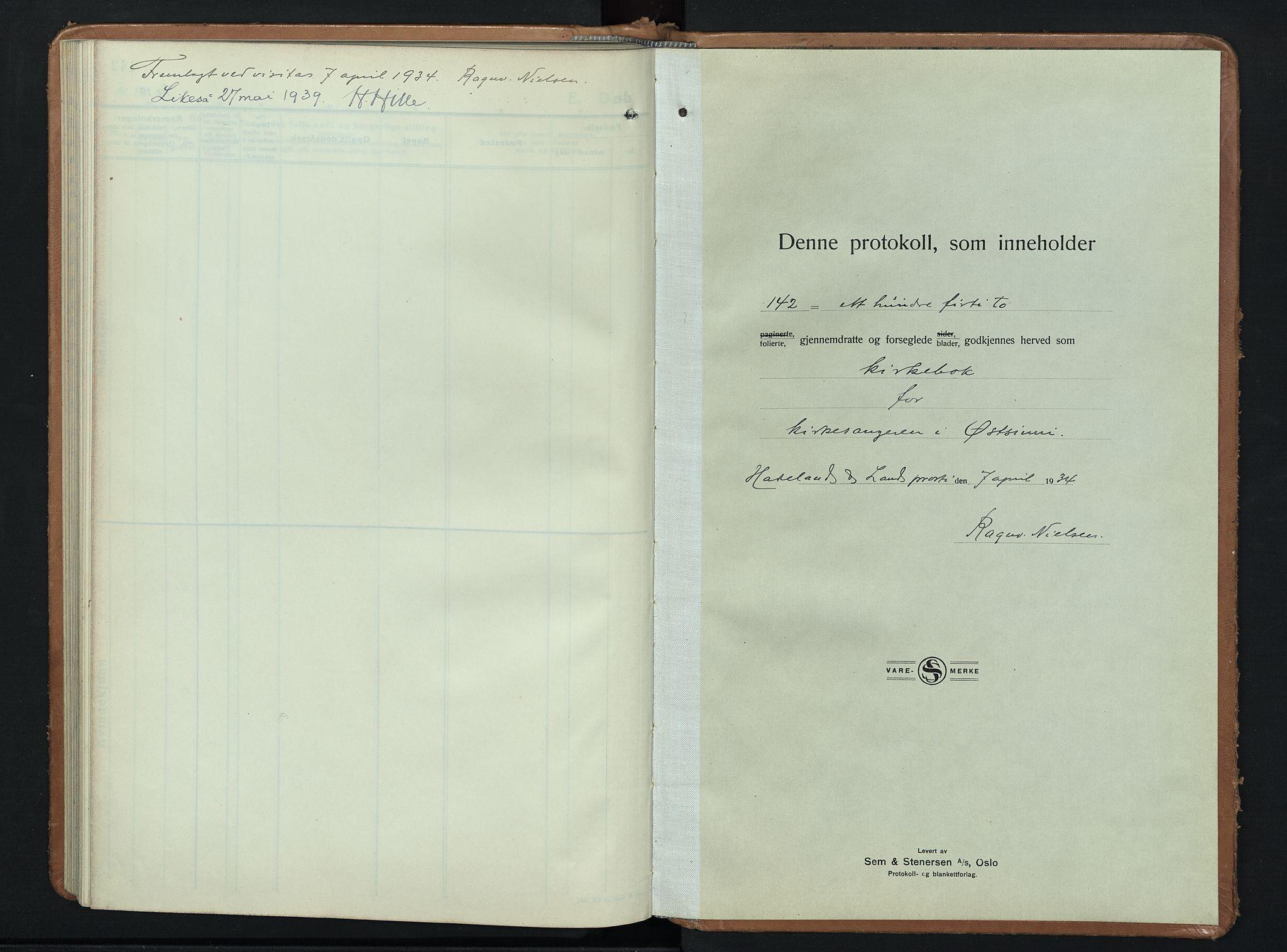 SAH, Nordre Land prestekontor, Klokkerbok nr. 3, 1932-1946