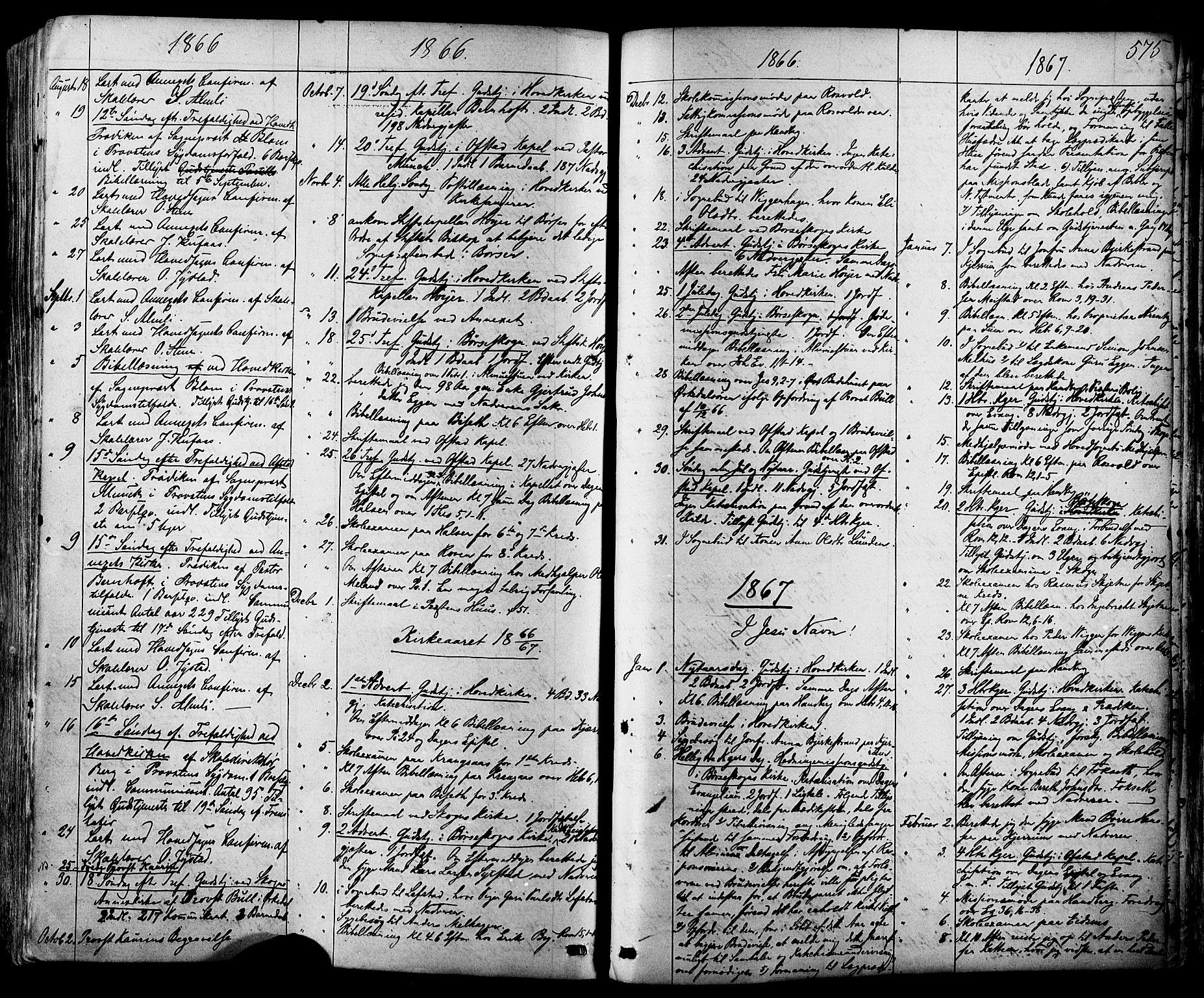 SAT, Ministerialprotokoller, klokkerbøker og fødselsregistre - Sør-Trøndelag, 665/L0772: Ministerialbok nr. 665A07, 1856-1878, s. 575