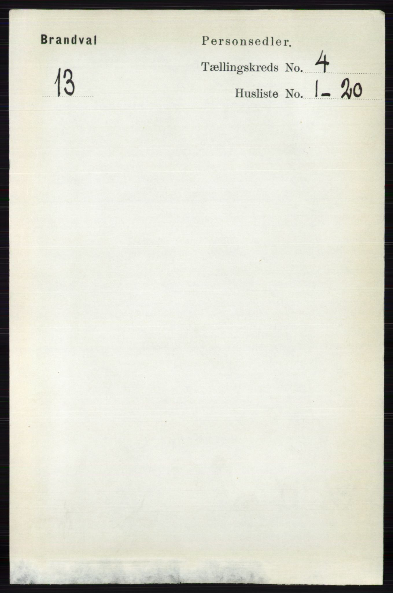 RA, Folketelling 1891 for 0422 Brandval herred, 1891, s. 1709