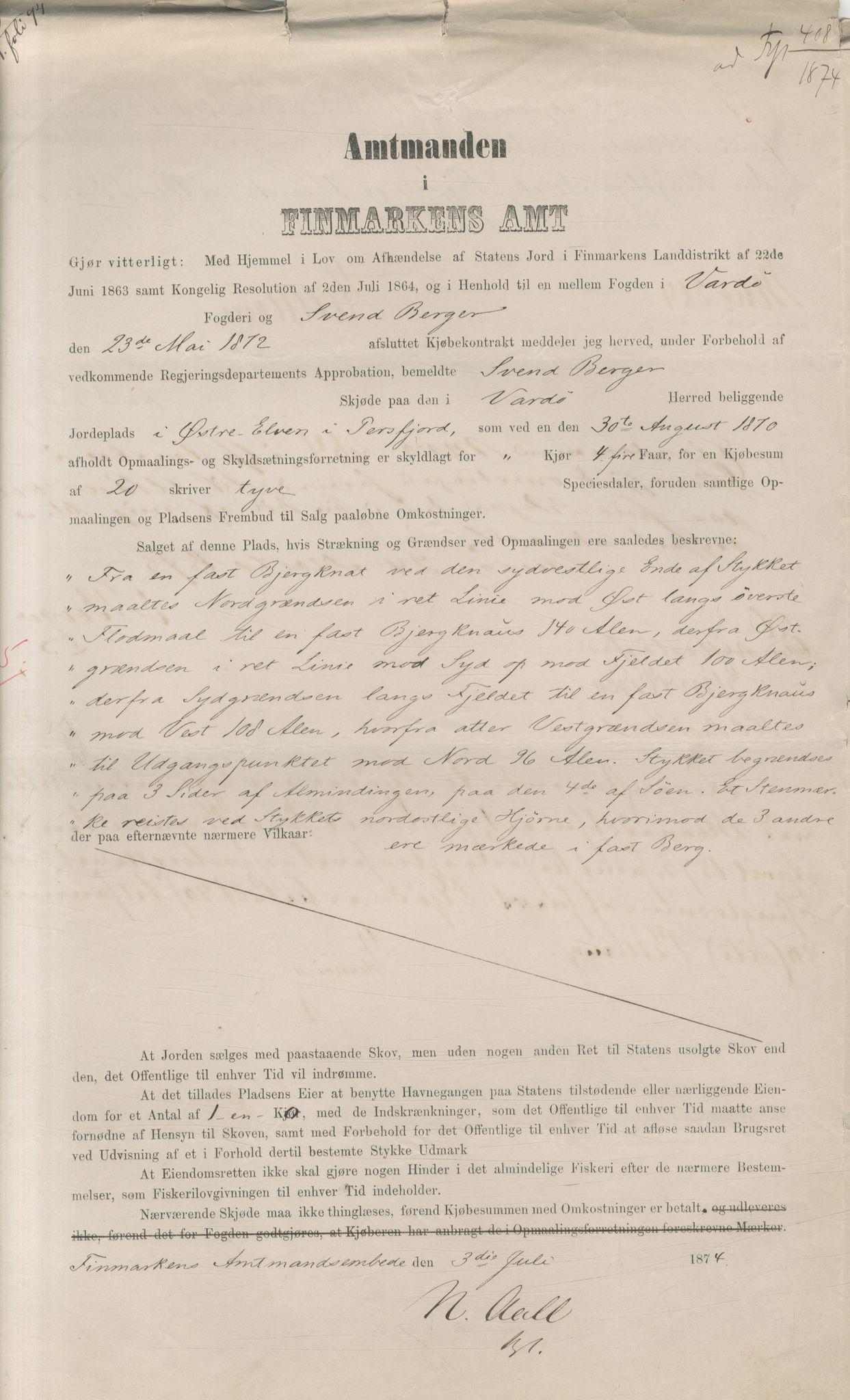VAMU, Brodtkorb handel A/S, Q/Qb/L0003: Faste eiendommer i Vardø Herred, 1862-1939, s. 68