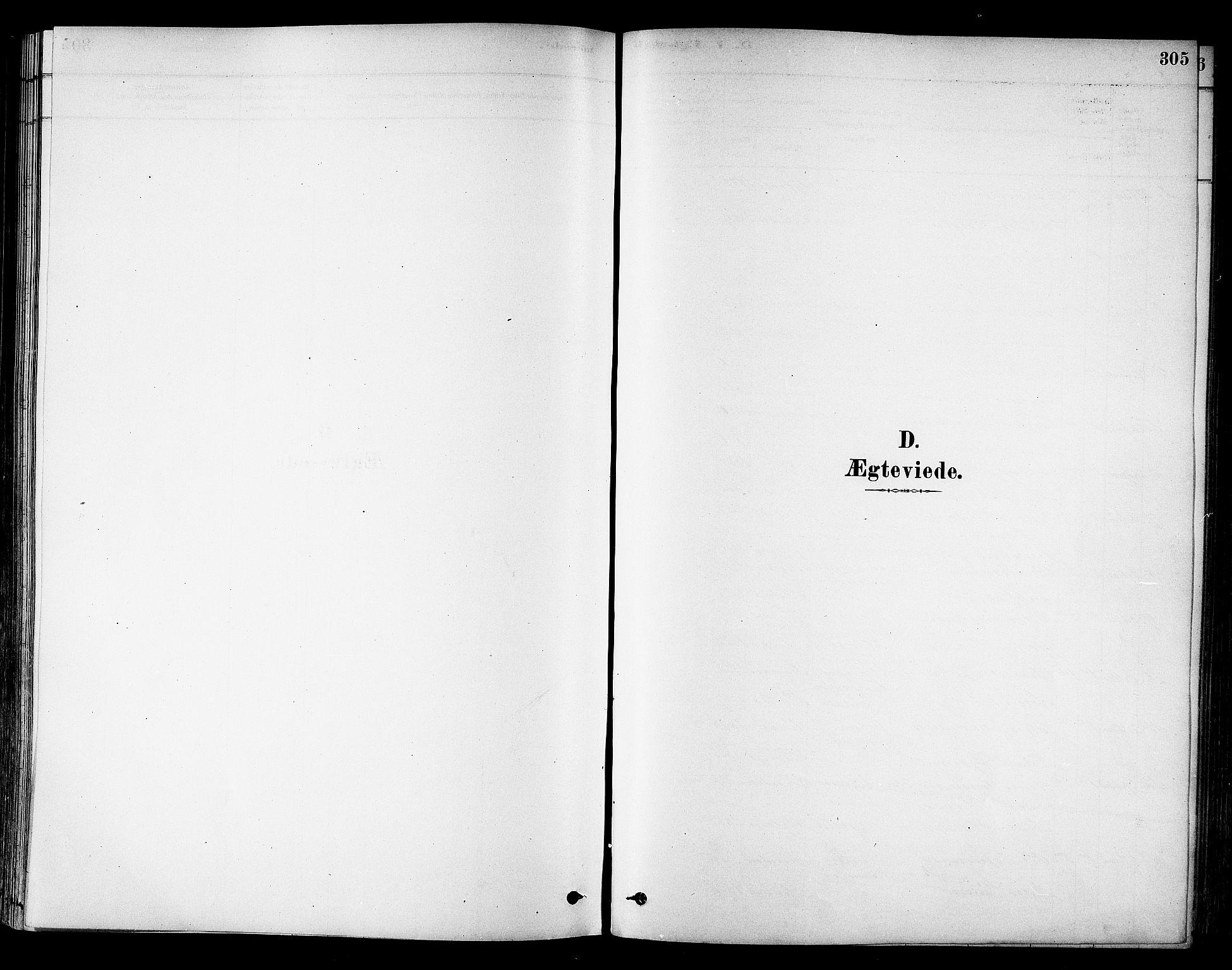 SAT, Ministerialprotokoller, klokkerbøker og fødselsregistre - Sør-Trøndelag, 695/L1148: Ministerialbok nr. 695A08, 1878-1891, s. 305