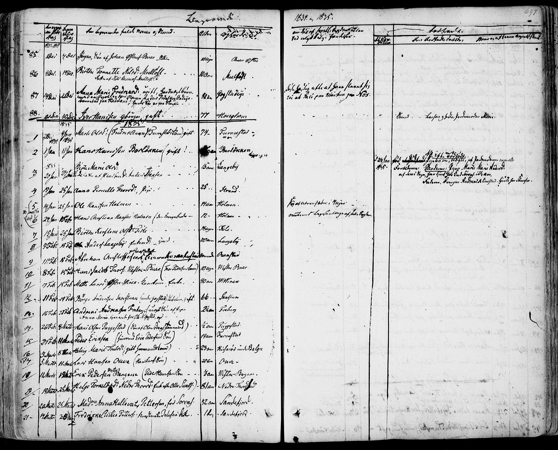 SAKO, Sandar kirkebøker, F/Fa/L0005: Ministerialbok nr. 5, 1832-1847, s. 696-697