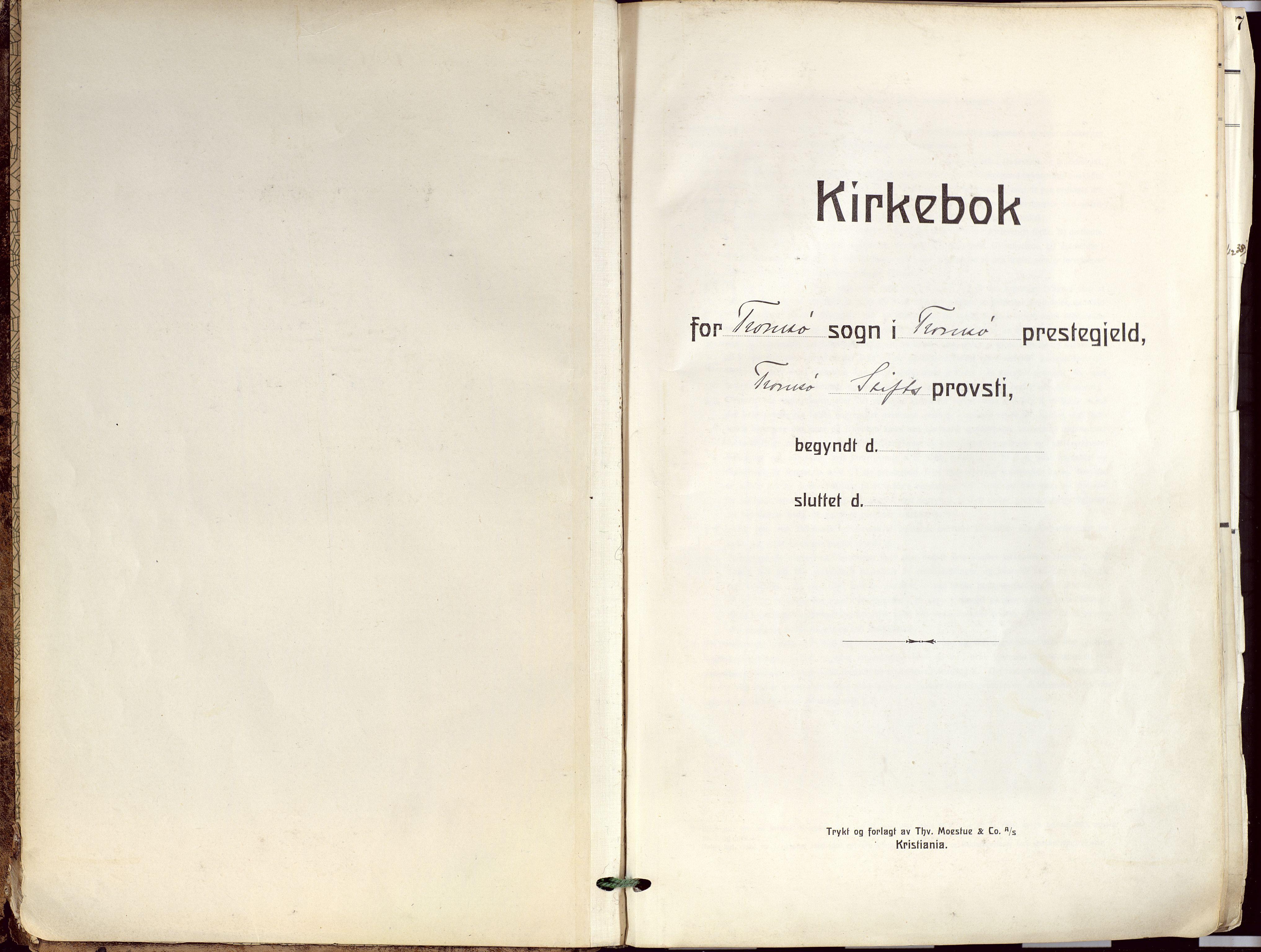 SATØ, Tromsø sokneprestkontor/stiftsprosti/domprosti, G/Ga/L0019kirke: Ministerialbok nr. 19, 1917-1927
