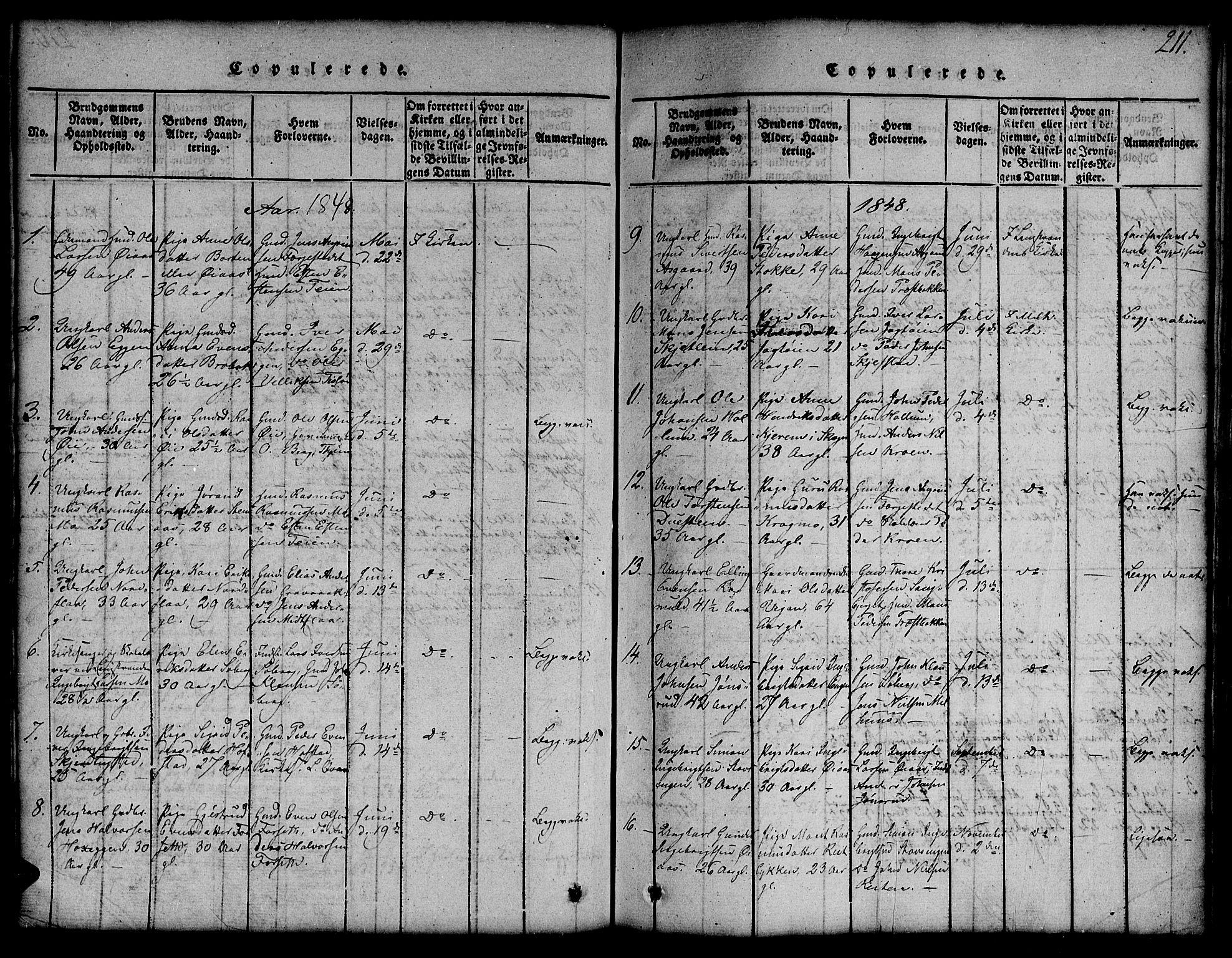 SAT, Ministerialprotokoller, klokkerbøker og fødselsregistre - Sør-Trøndelag, 691/L1092: Klokkerbok nr. 691C03, 1816-1852, s. 211