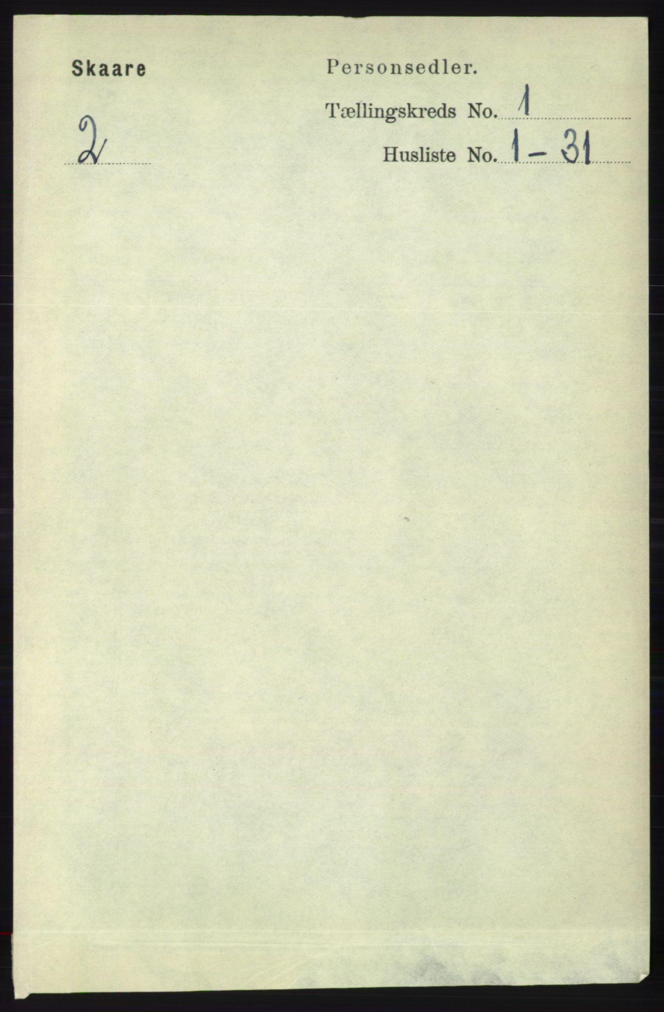 RA, Folketelling 1891 for 1153 Skåre herred, 1891, s. 108