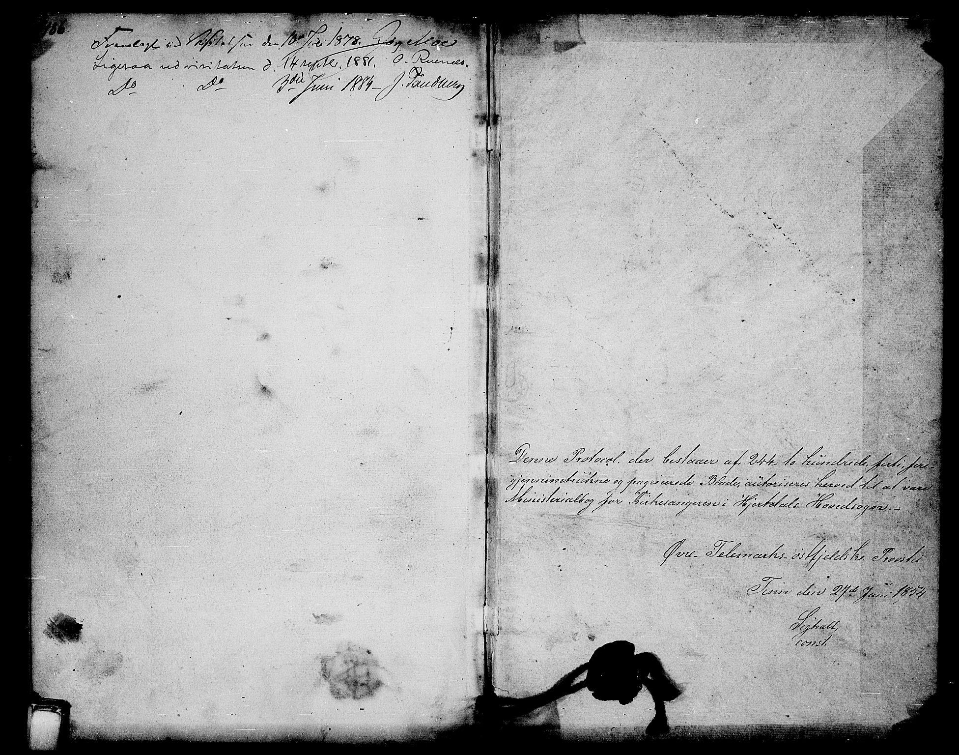 SAKO, Hjartdal kirkebøker, G/Ga/L0002: Klokkerbok nr. I 2, 1854-1888, s. 486-487