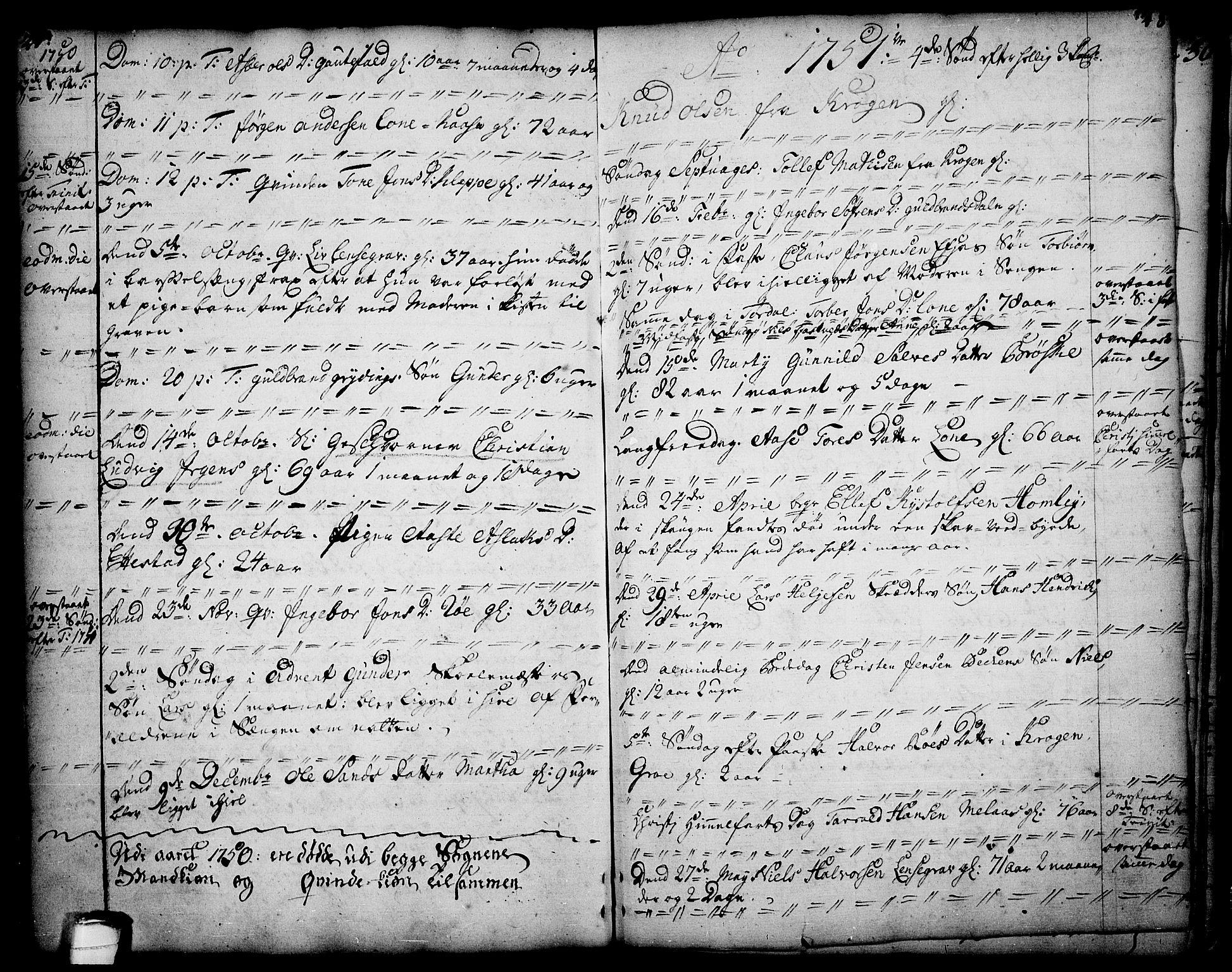 SAKO, Drangedal kirkebøker, F/Fa/L0002: Ministerialbok nr. 2, 1733-1753, s. 27-28
