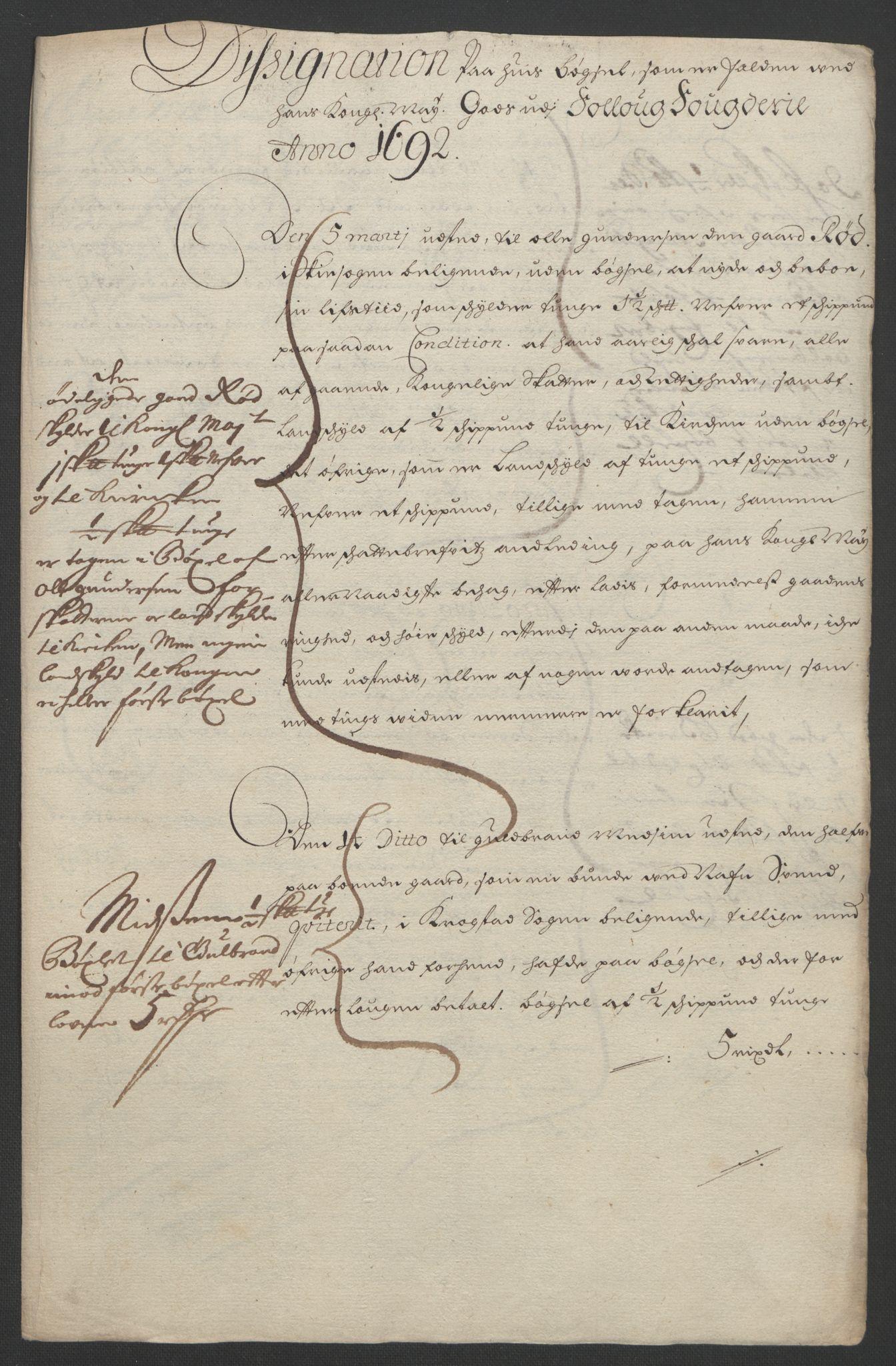 RA, Rentekammeret inntil 1814, Reviderte regnskaper, Fogderegnskap, R09/L0437: Fogderegnskap Follo, 1692-1693, s. 26