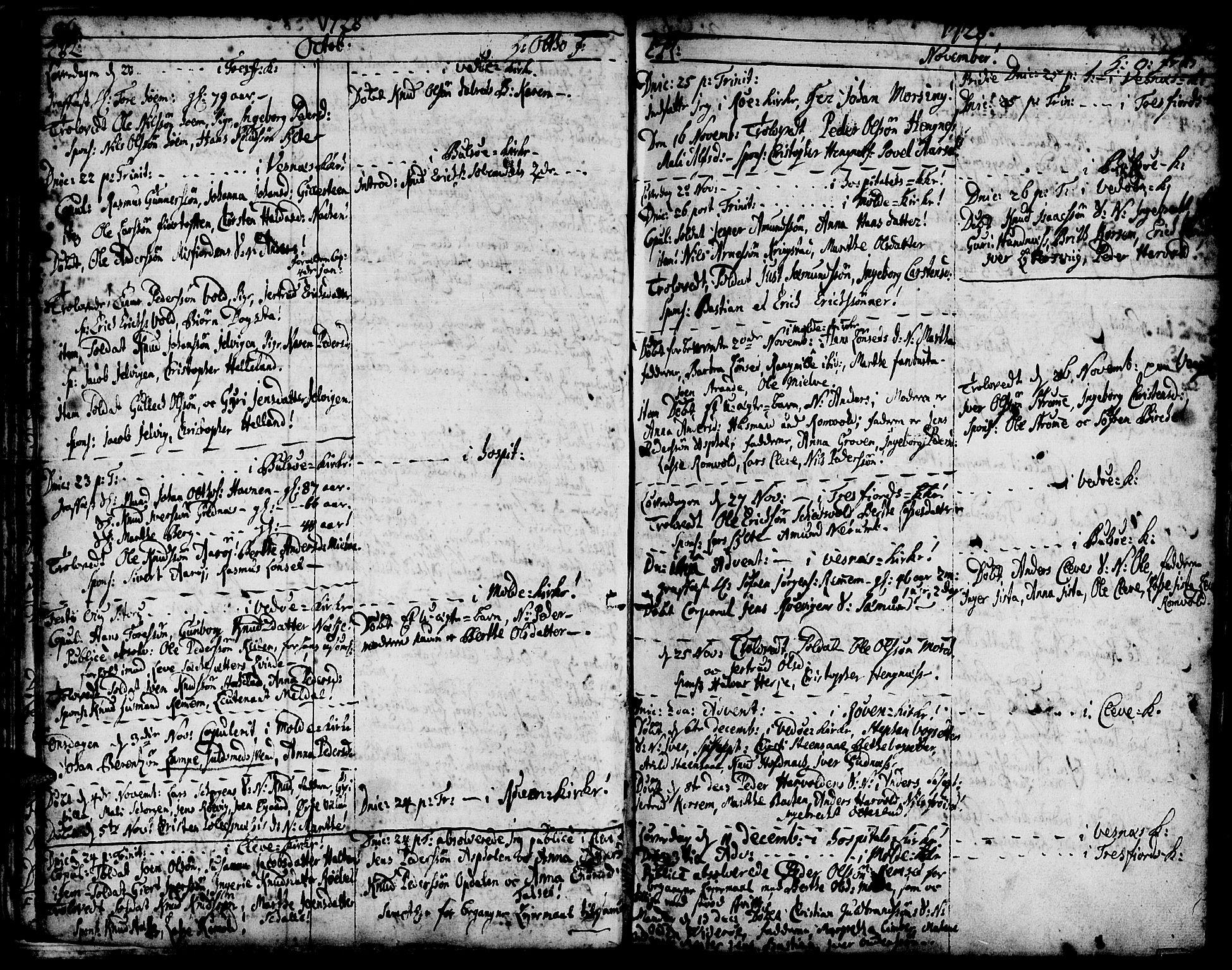 SAT, Ministerialprotokoller, klokkerbøker og fødselsregistre - Møre og Romsdal, 547/L0599: Ministerialbok nr. 547A01, 1721-1764, s. 98-99
