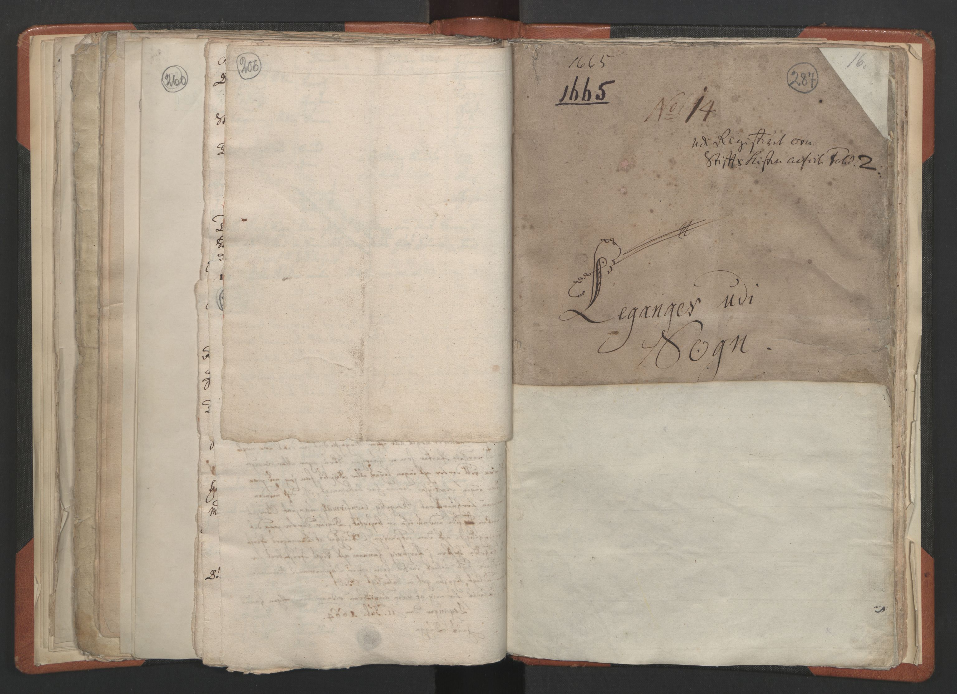 RA, Sogneprestenes manntall 1664-1666, nr. 23: Sogn prosti, 1664-1666, s. 286-287