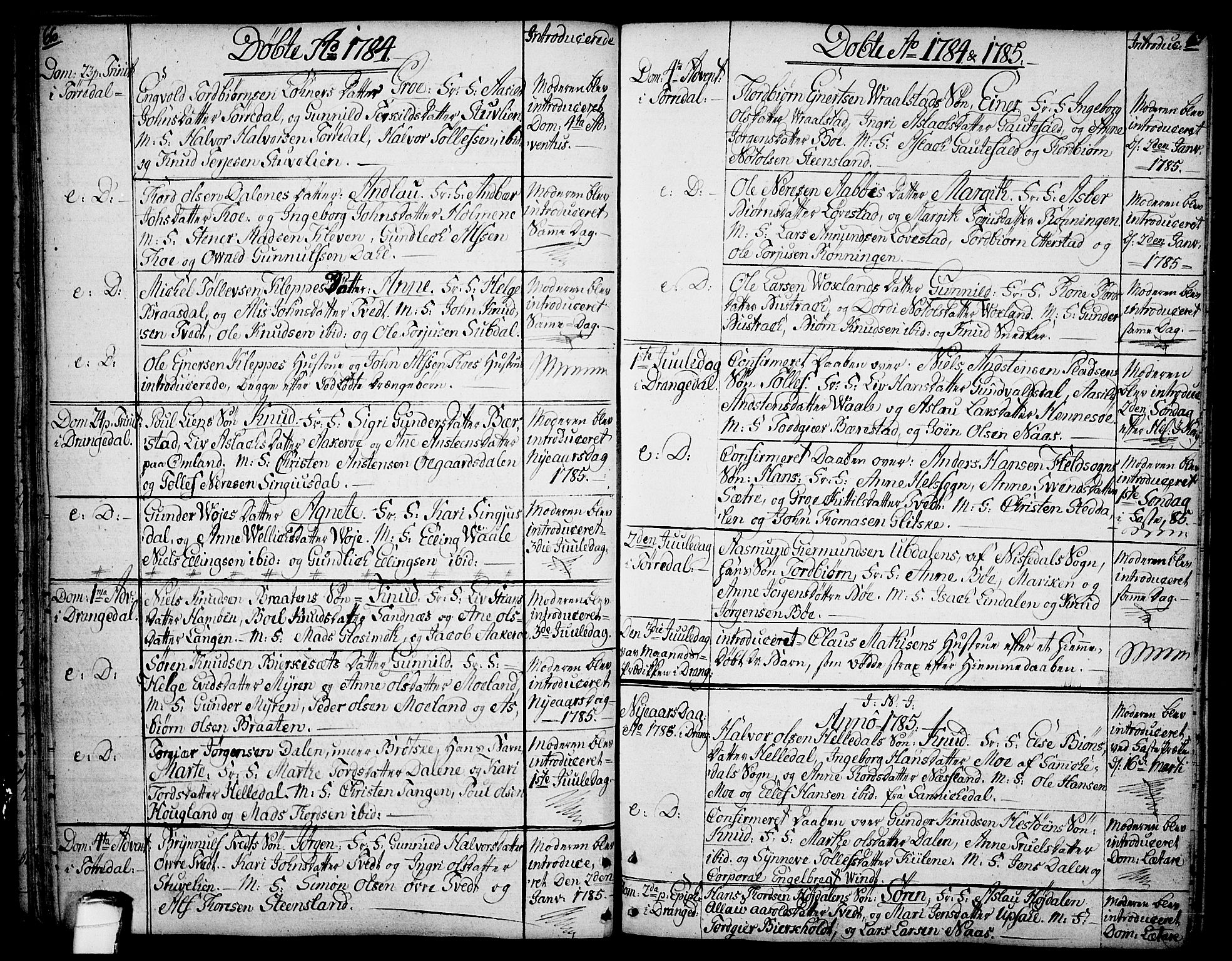 SAKO, Drangedal kirkebøker, F/Fa/L0003: Ministerialbok nr. 3, 1768-1814, s. 66-67