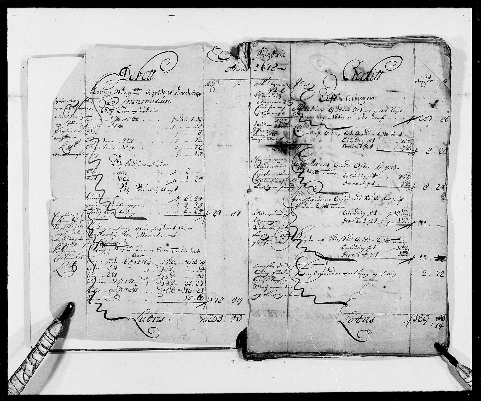 RA, Rentekammeret inntil 1814, Reviderte regnskaper, Fogderegnskap, R27/L1686: Fogderegnskap Lier, 1678-1686, s. 2