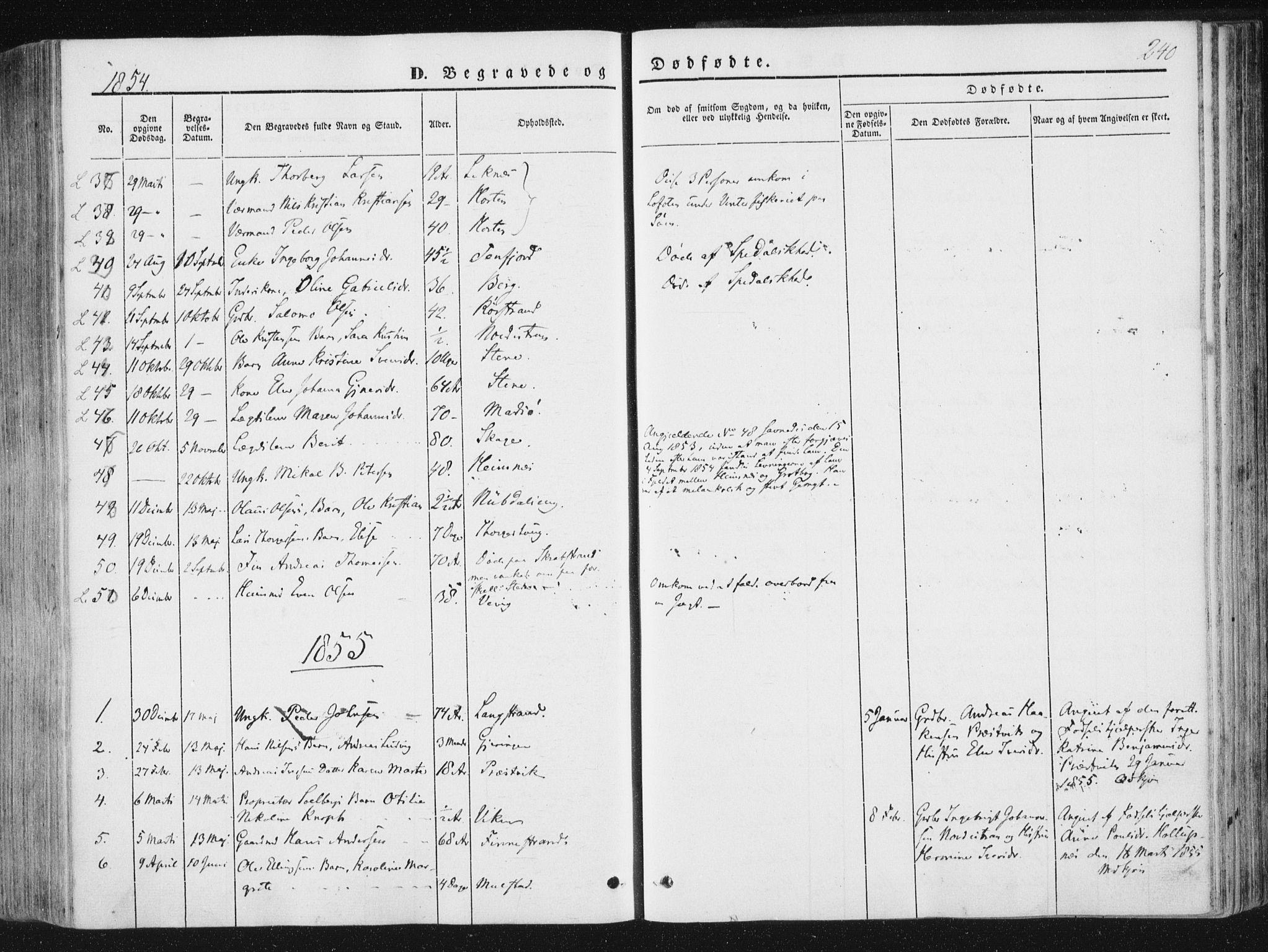 SAT, Ministerialprotokoller, klokkerbøker og fødselsregistre - Nord-Trøndelag, 780/L0640: Ministerialbok nr. 780A05, 1845-1856, s. 240