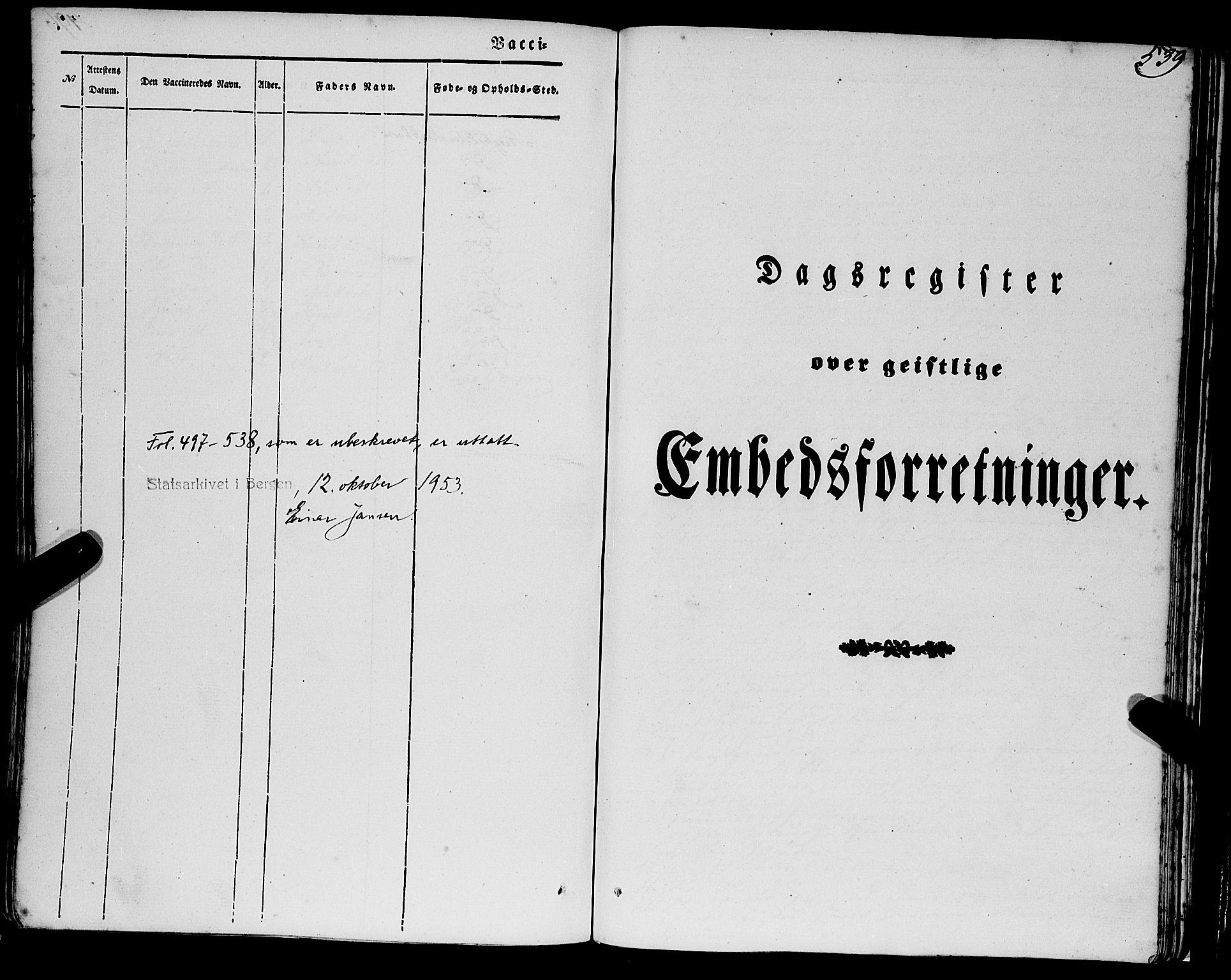 SAB, Eid Sokneprestembete, H/Haa: Ministerialbok nr. A 7, 1844-1858, s. 539