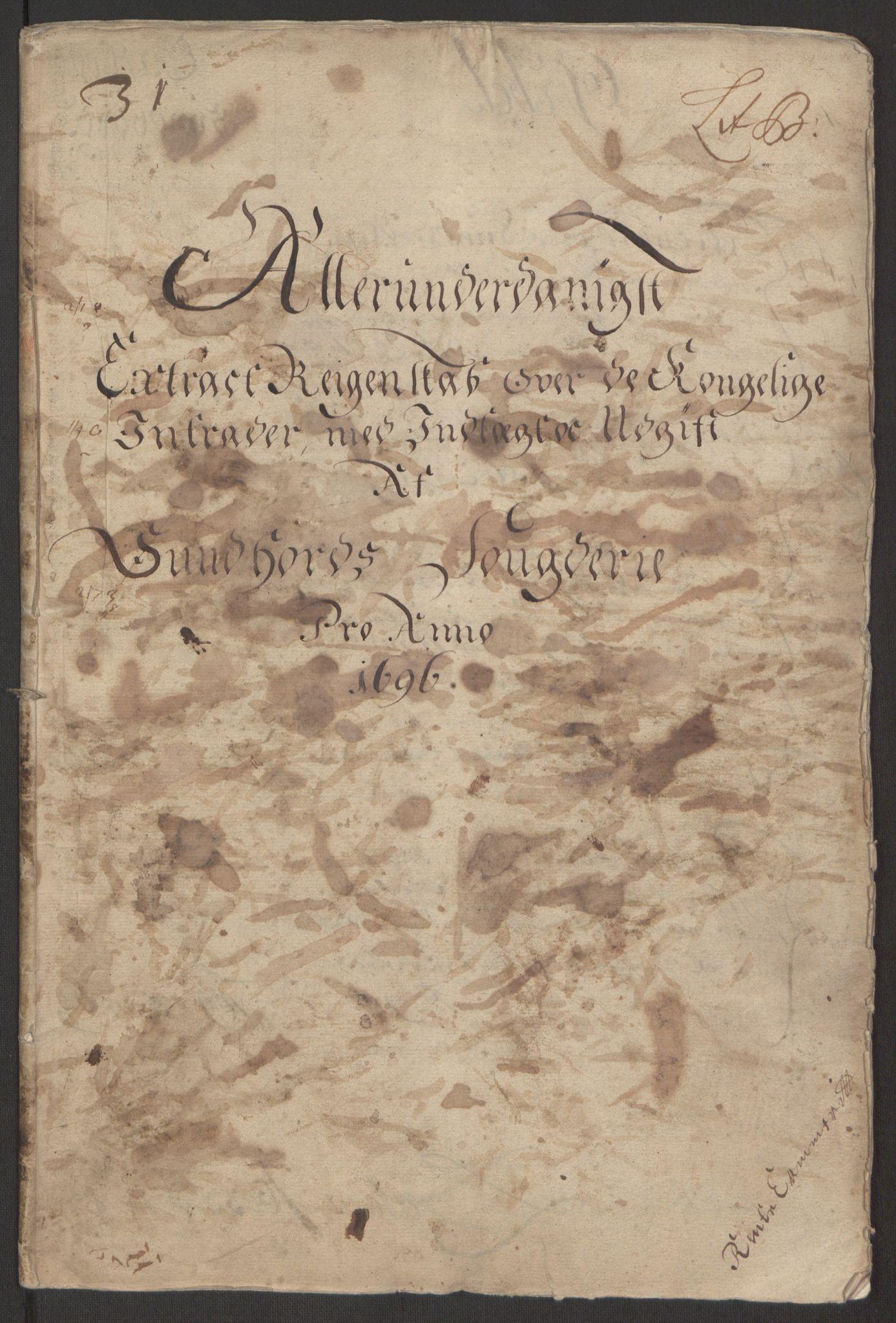 RA, Rentekammeret inntil 1814, Reviderte regnskaper, Fogderegnskap, R48/L2976: Fogderegnskap Sunnhordland og Hardanger, 1695-1696, s. 271