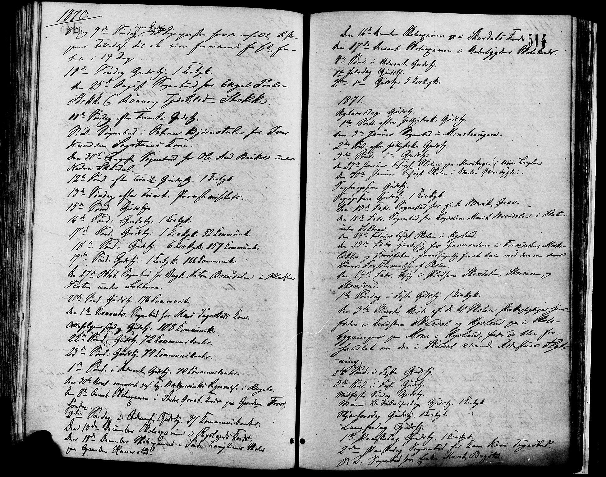 SAH, Sør-Fron prestekontor, H/Ha/Haa/L0002: Ministerialbok nr. 2, 1864-1880, s. 514