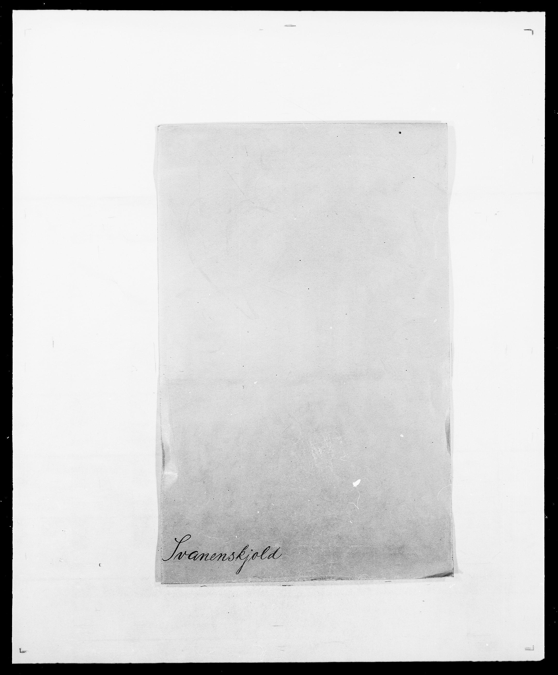SAO, Delgobe, Charles Antoine - samling, D/Da/L0038: Svanenskjold - Thornsohn, s. 1