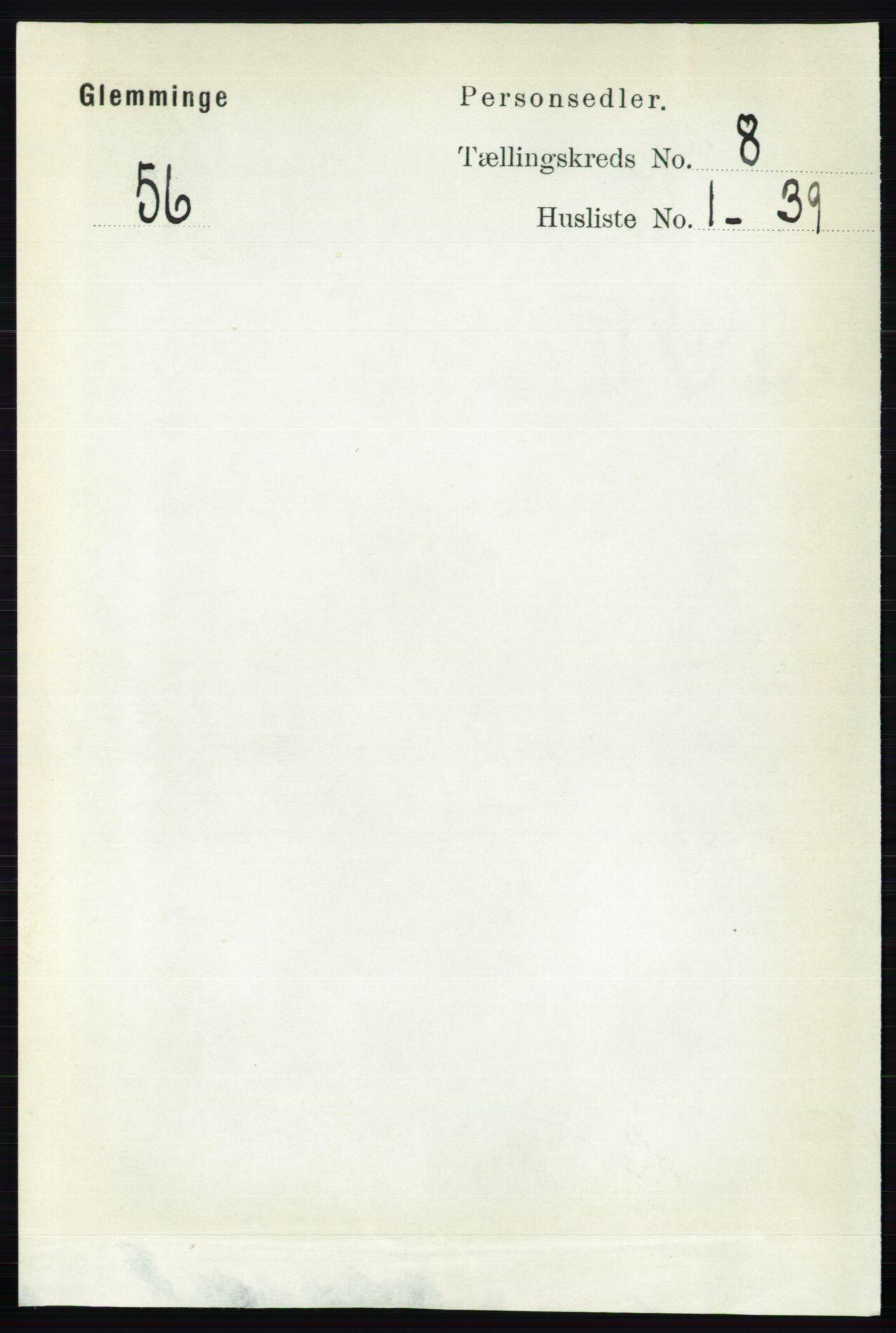 RA, Folketelling 1891 for 0132 Glemmen herred, 1891, s. 9305