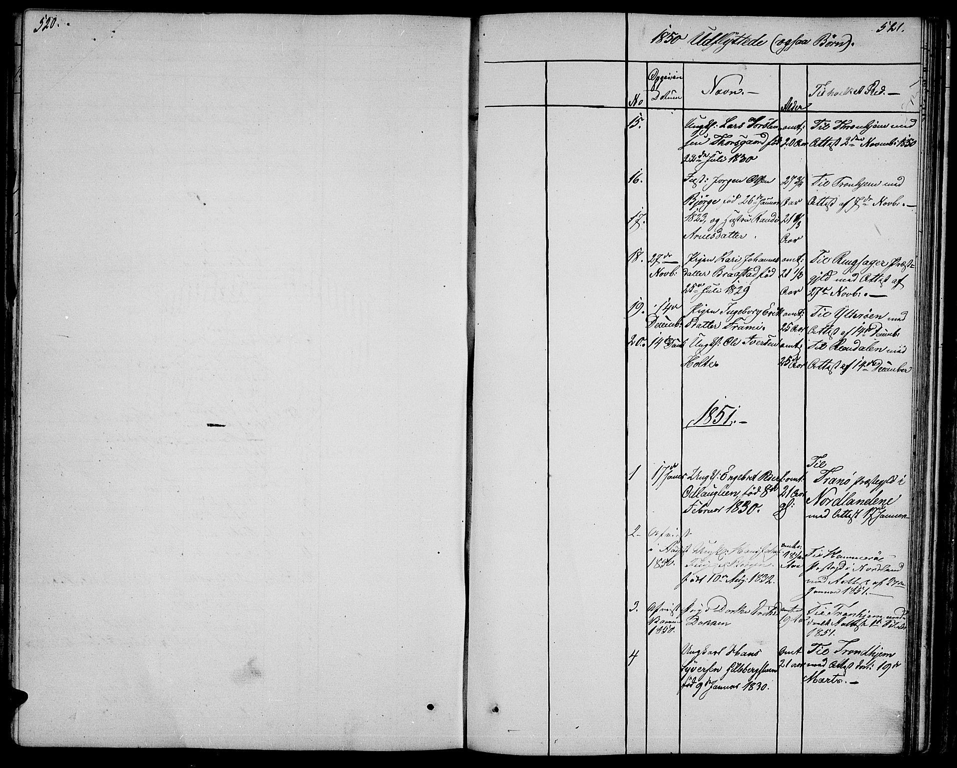 SAH, Ringebu prestekontor, Klokkerbok nr. 2, 1839-1853, s. 520-521